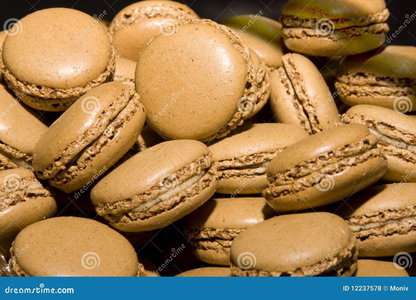 Franse de makaronkoekjes van de chocolade