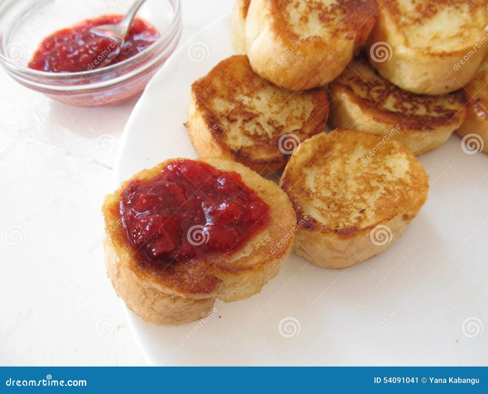 Franse toosts met jam