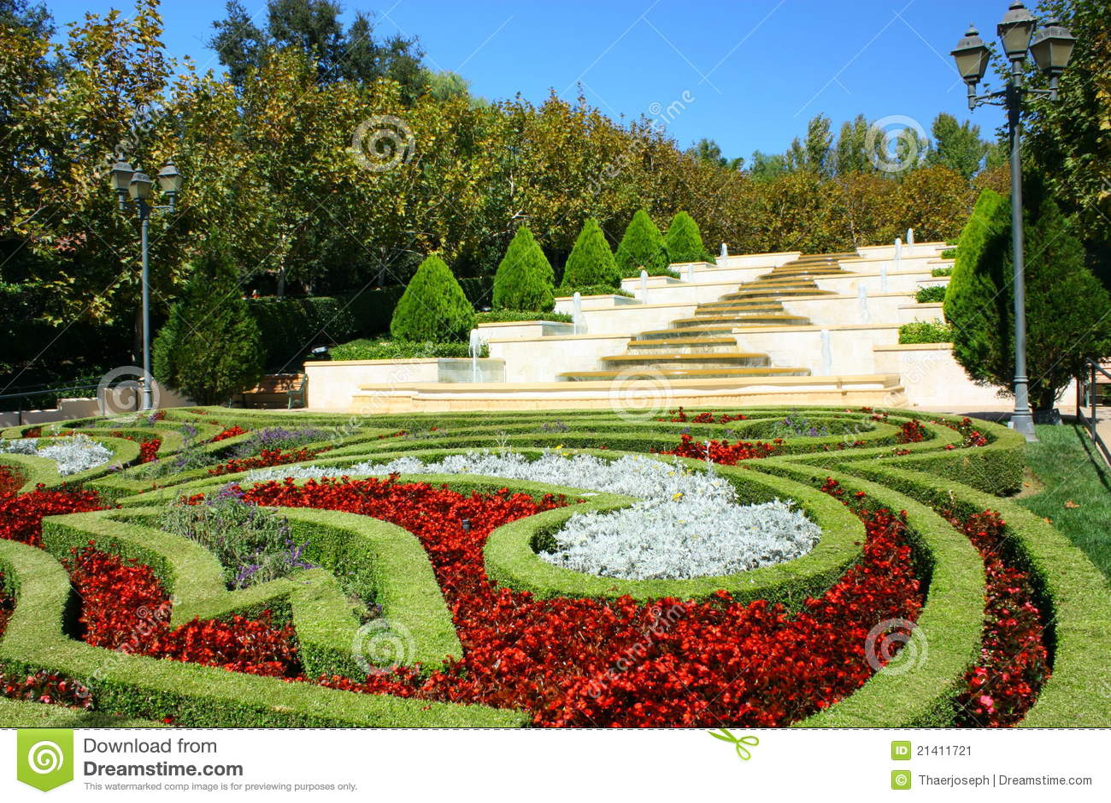 Franse tuin stock afbeelding afbeelding 21411721 - Tuin decoratie buitenkant ...