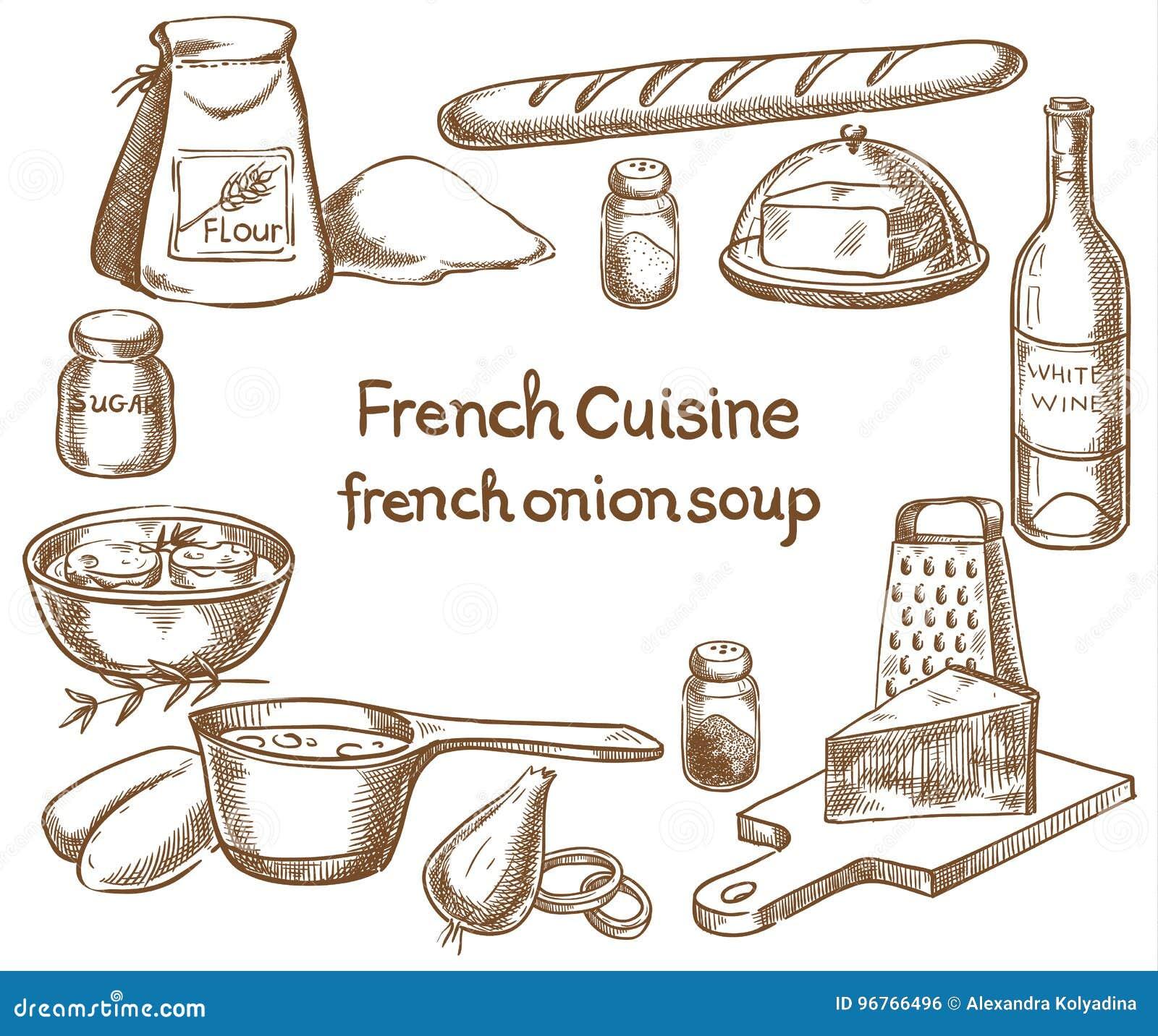 Franse uisoep, ingrediënten