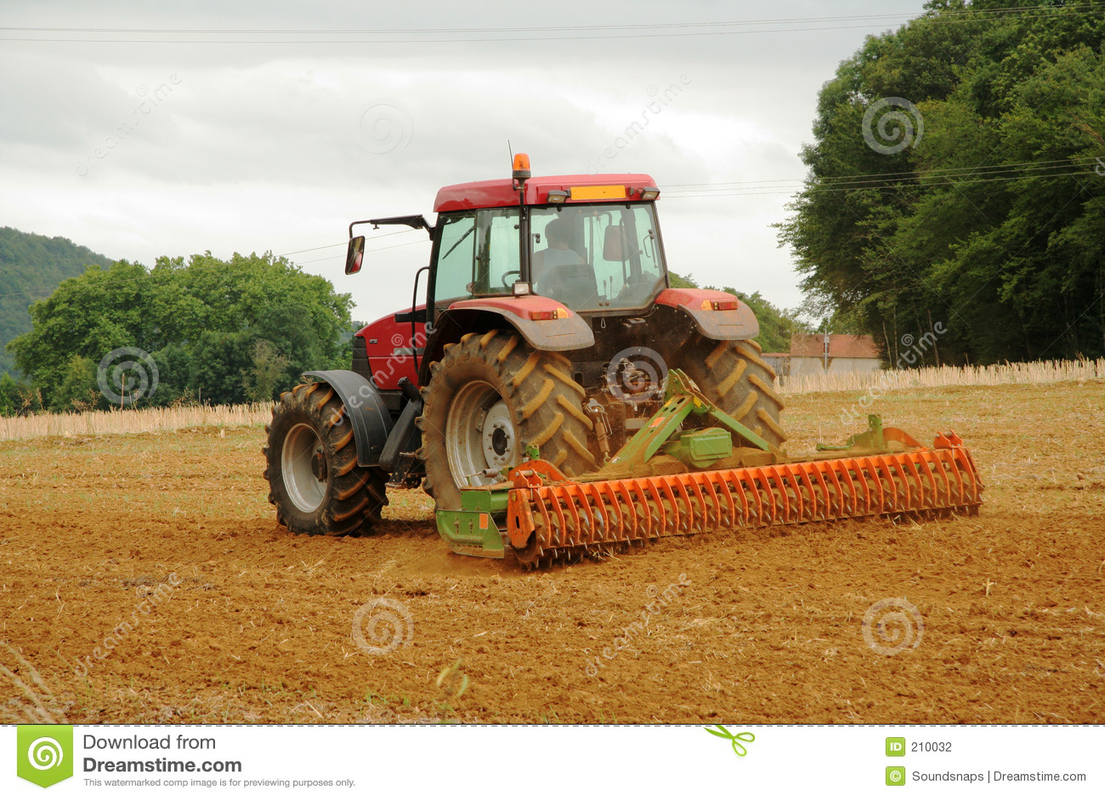 Fransk plöja traktor