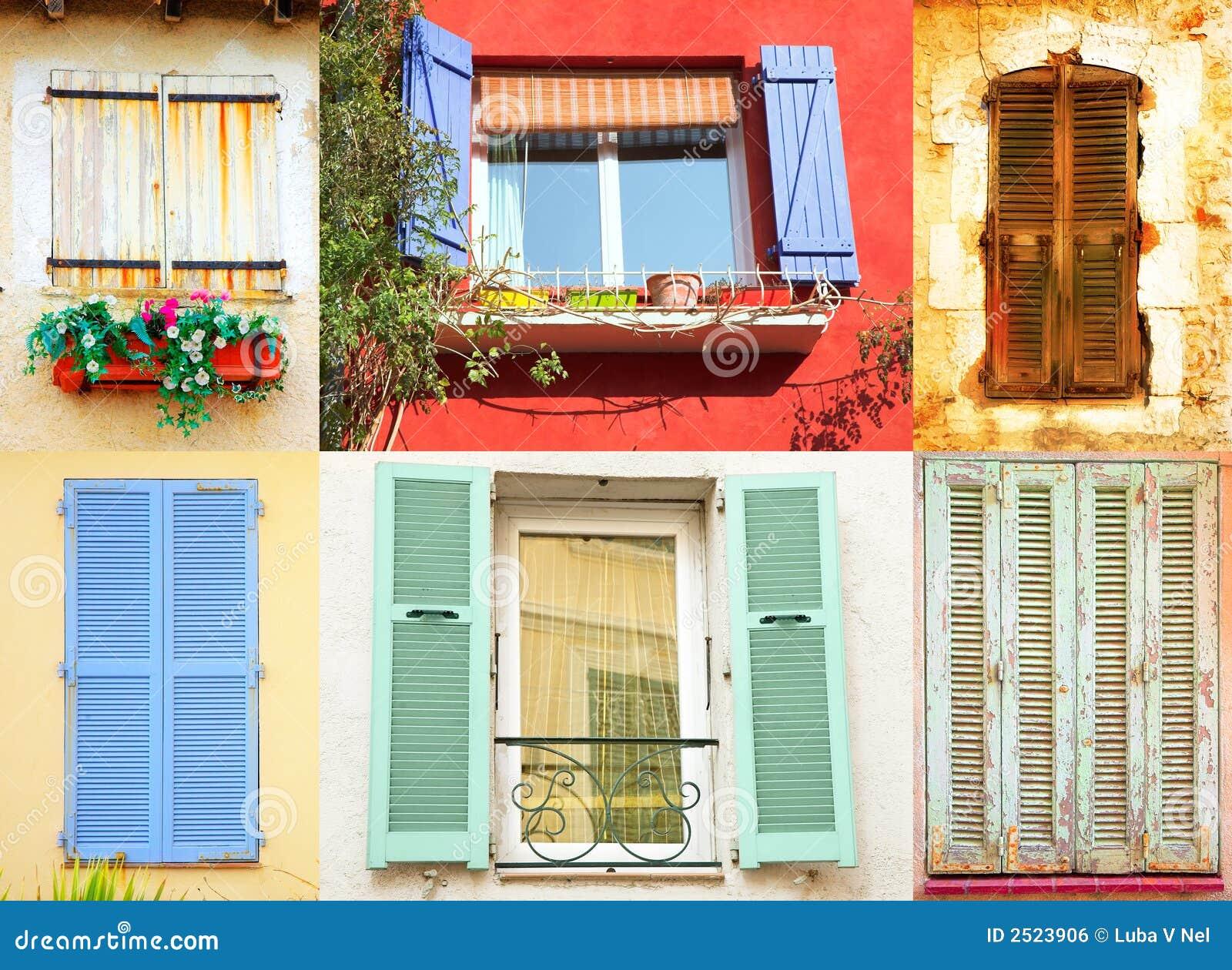 Franska traditionella fönster