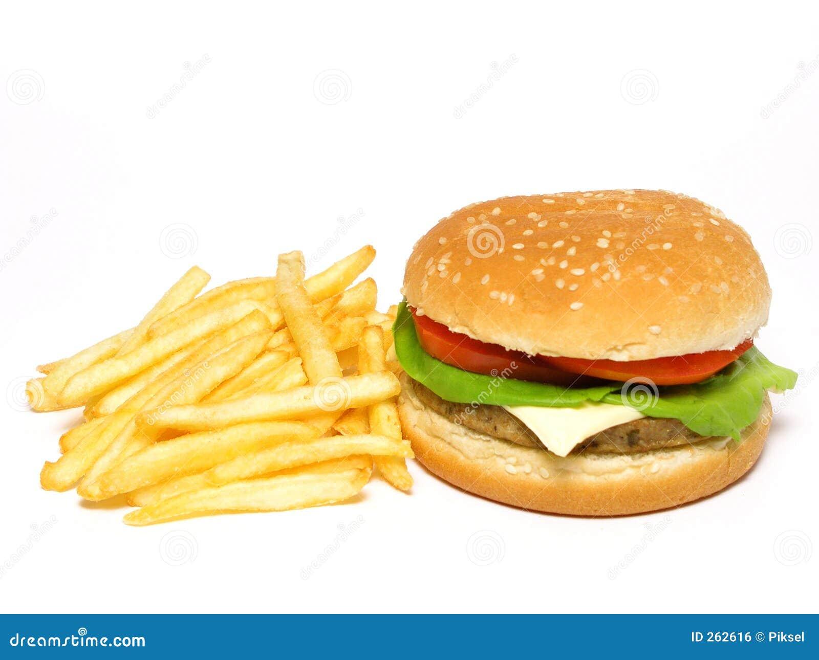 Fransmannen steker hamburgaren