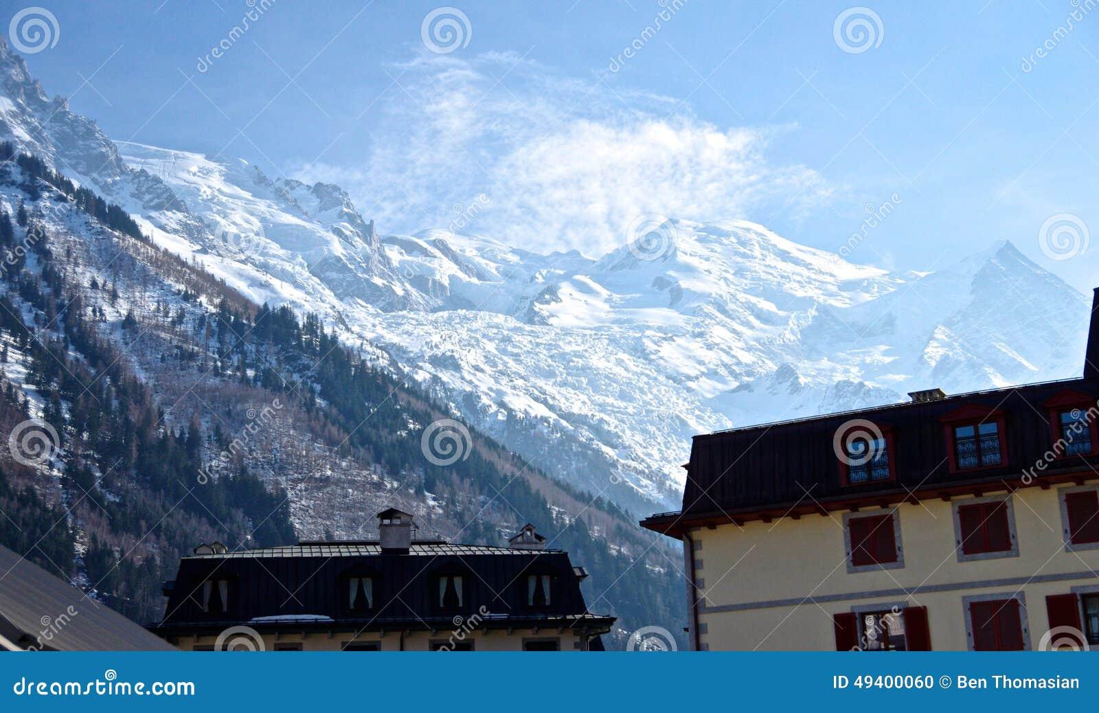 Download Französische Alpen stockfoto. Bild von sport, himmel - 49400060