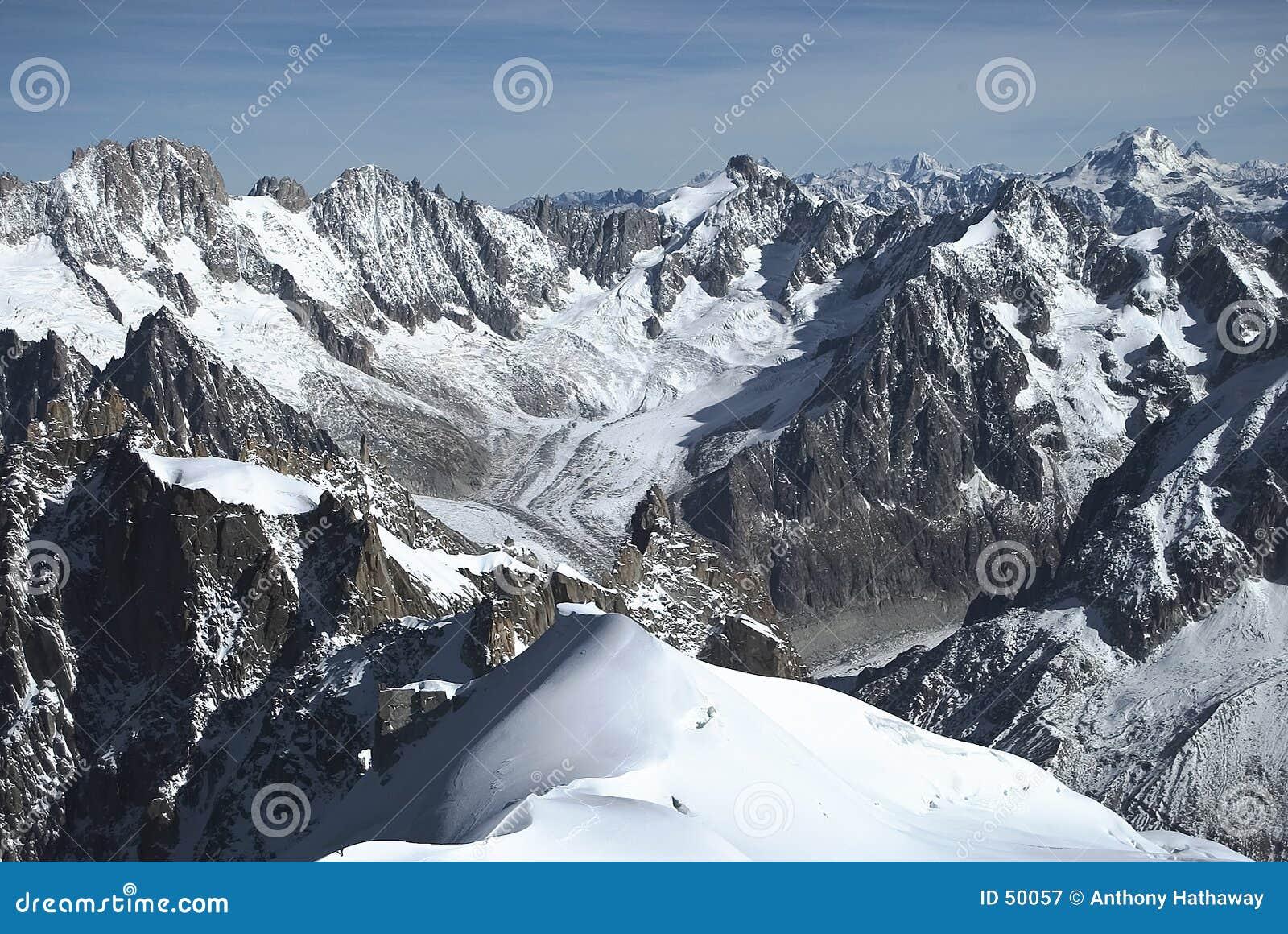Französische alpine Szene