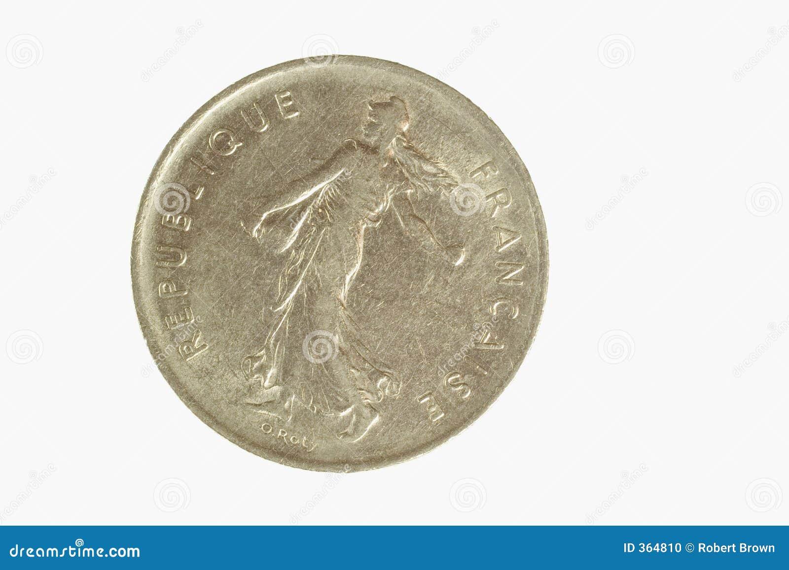 Französische Münze 1 Stockfoto Bild Von Metall Frankreich 364810