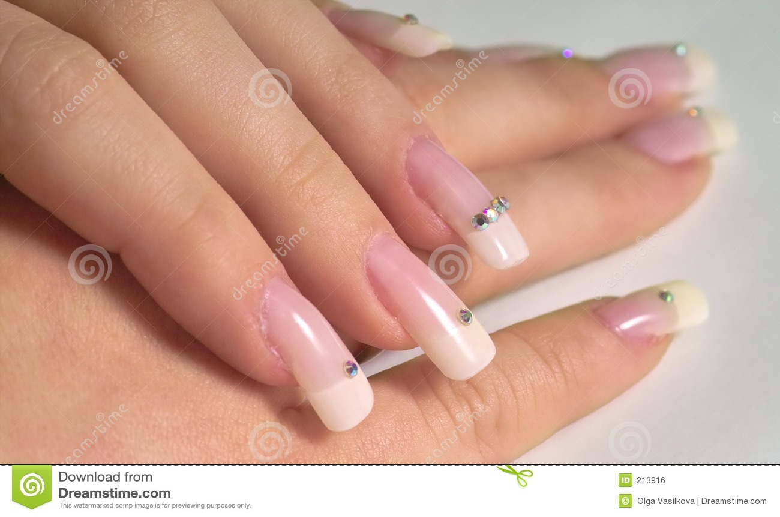 Französische Nägel stockfoto. Bild von schön, phantasie - 213916