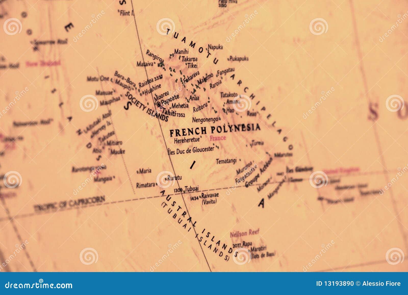 Französische Polinesien-Karte