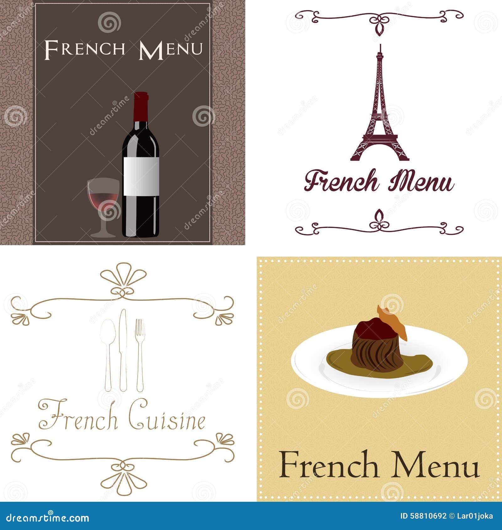 Französisches Menü vektor abbildung. Illustration von französisch ...