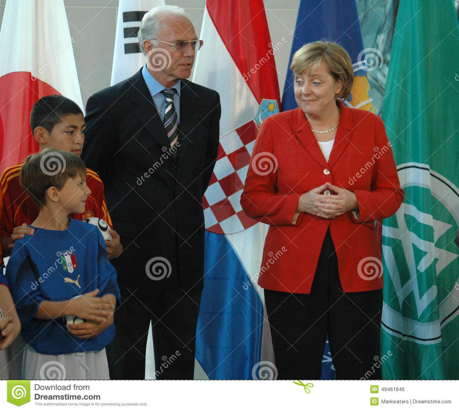 Franz Beckenbauer Angela Merkel Editorial Photo Image Of Franz Angela 49461846