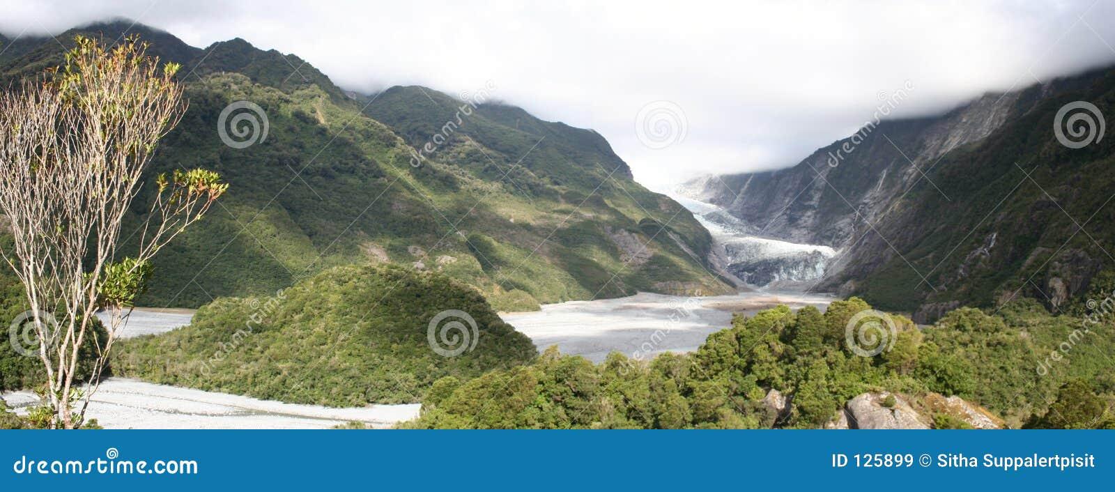 Franz Josef lodowiec panorama nowej Zelandii