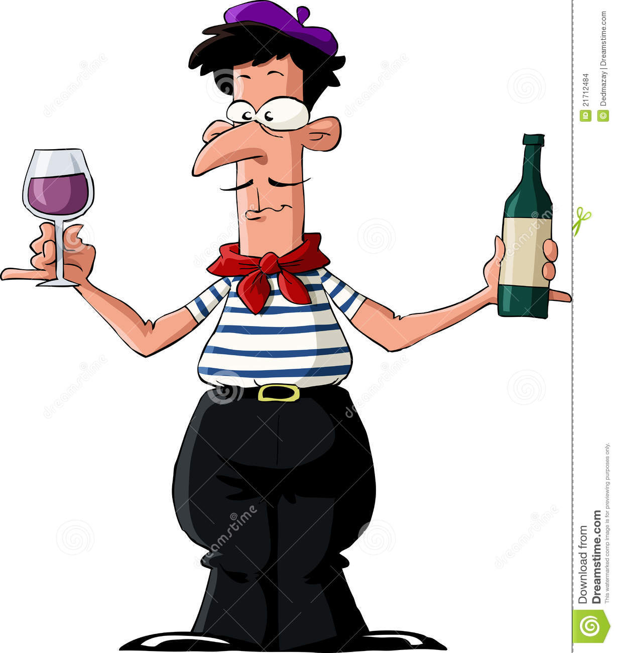 Man Drinking Wine In France