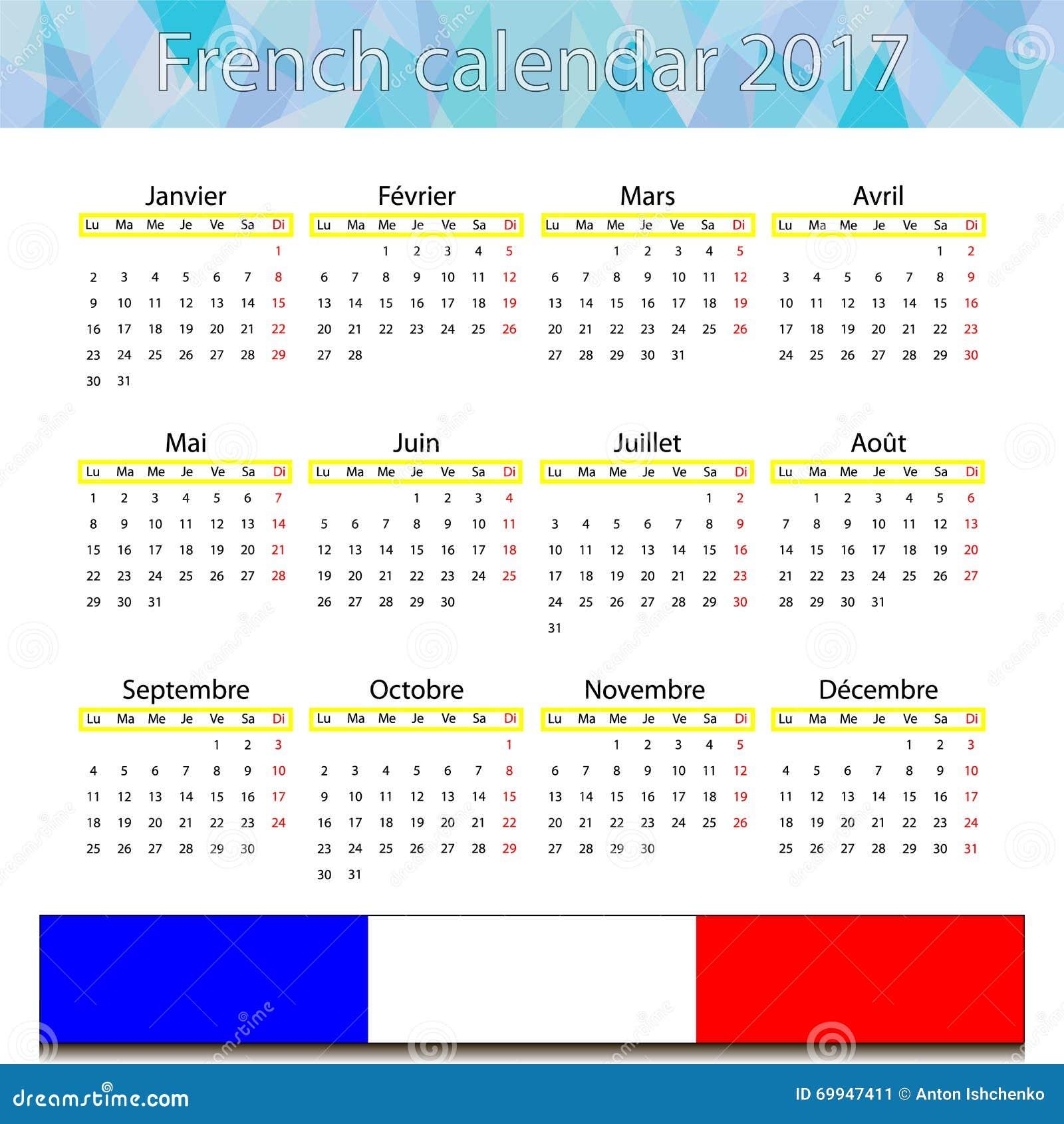 Französischer Kalender 2017