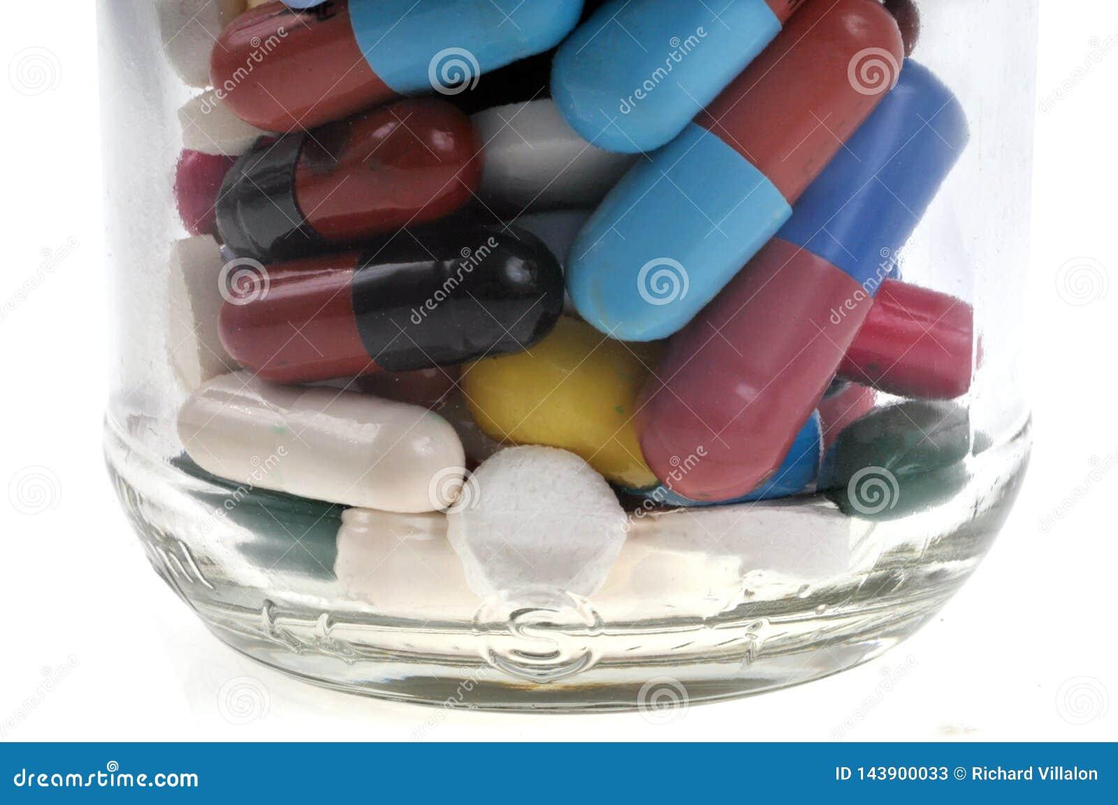 Frasco de diversas medicaciones