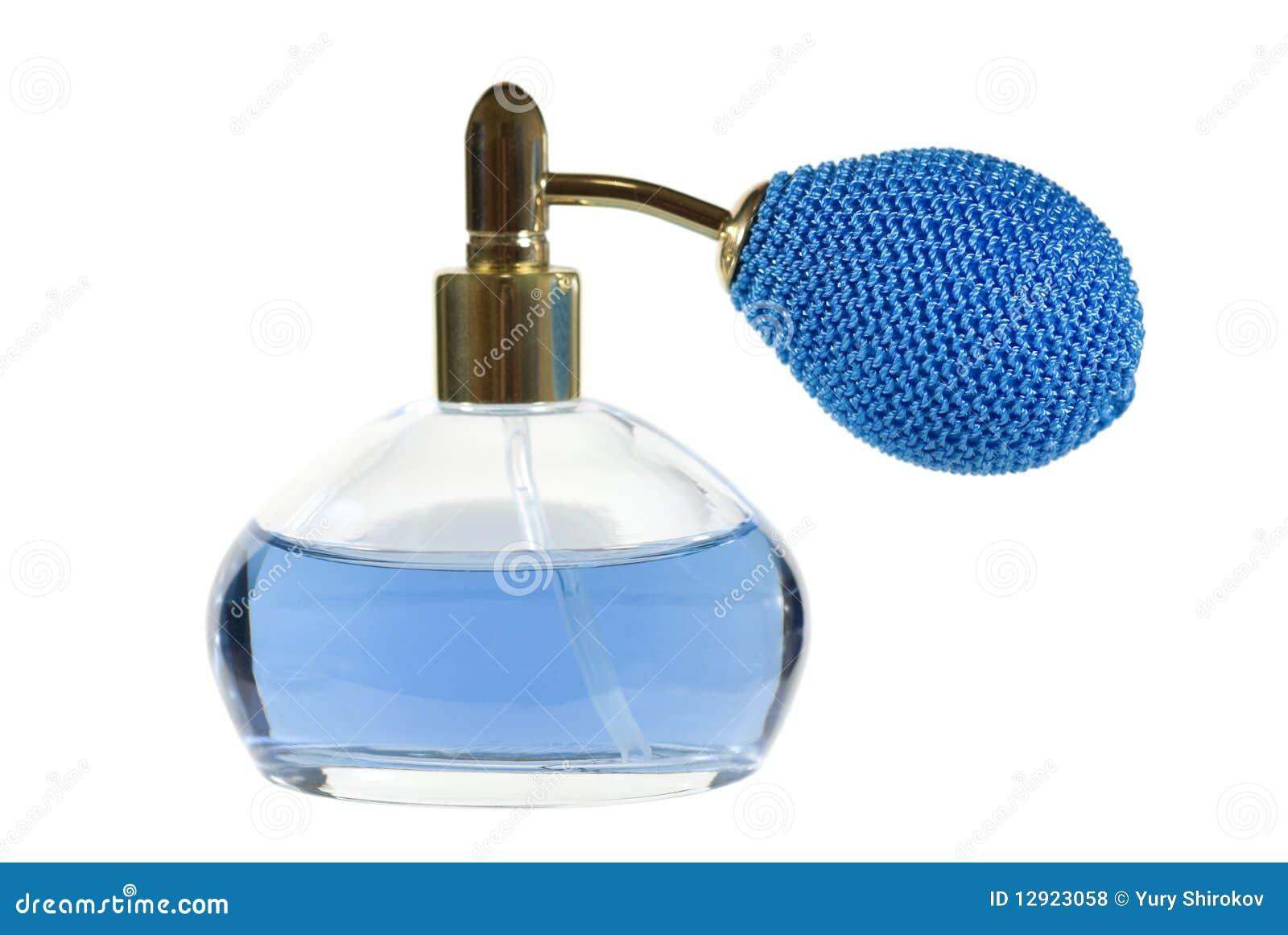 Frasco de perfume azul