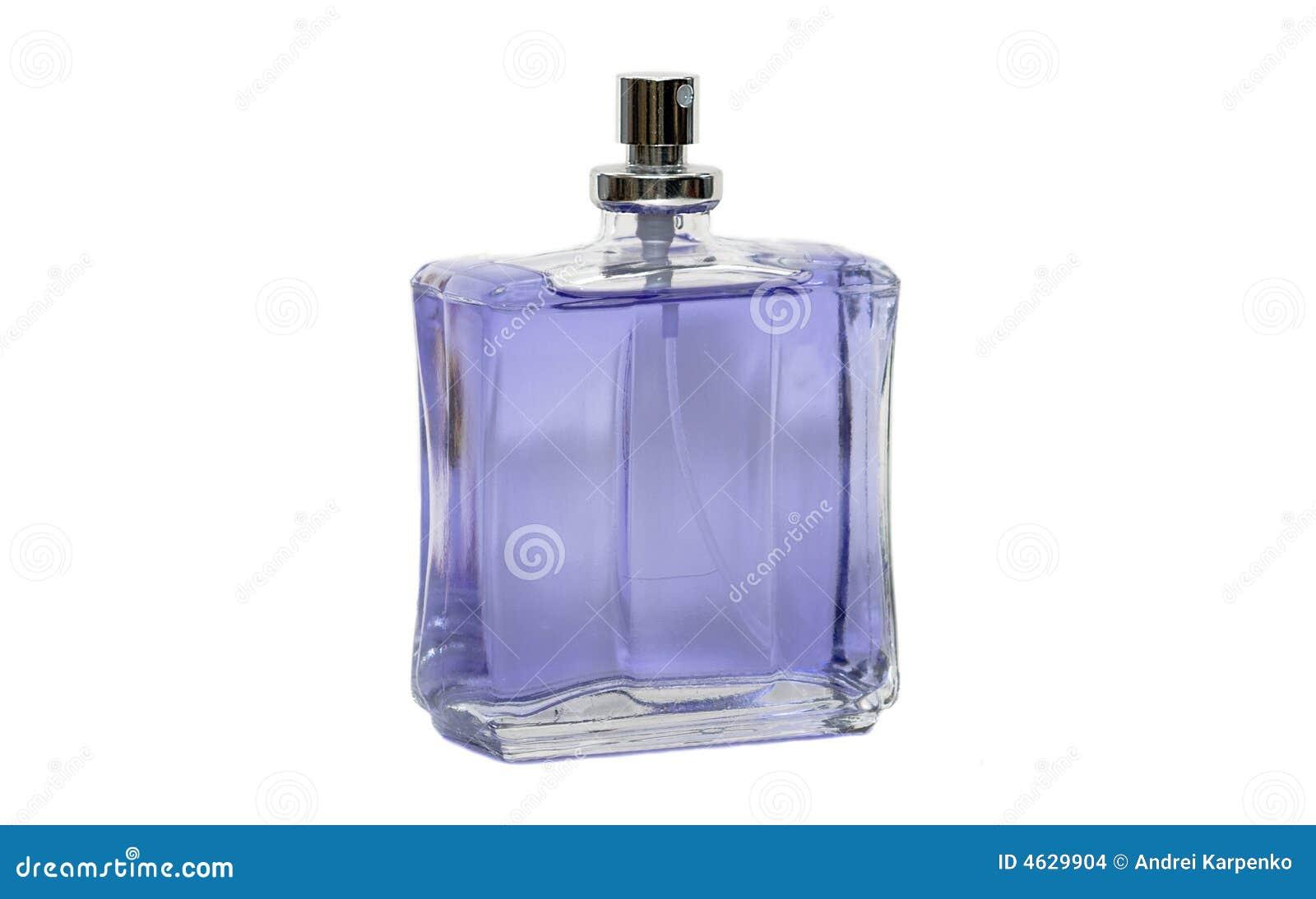 Frasco de perfume violeta