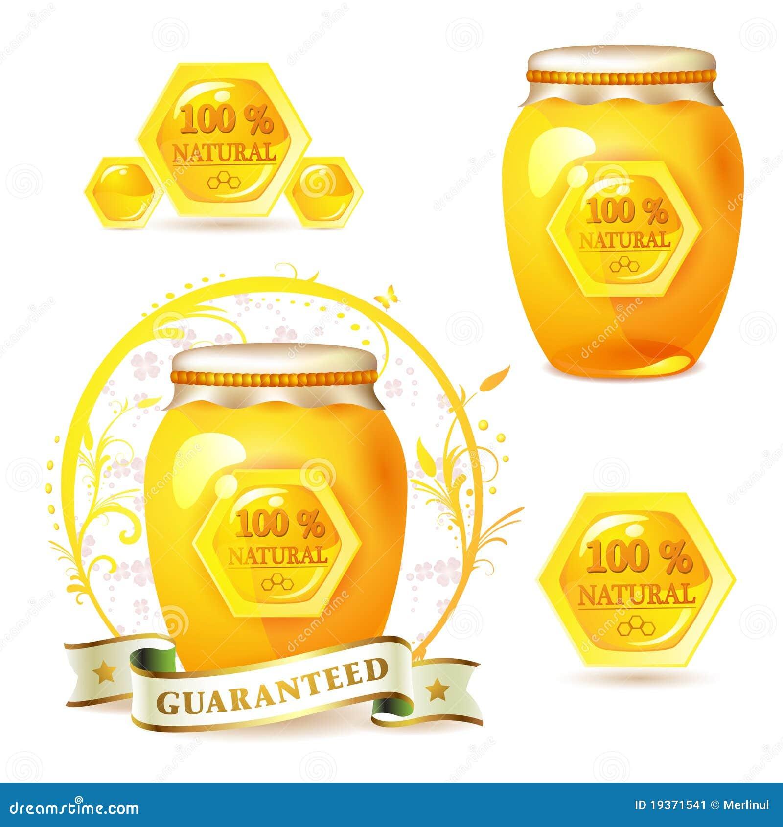 Frasco de vidro com mel