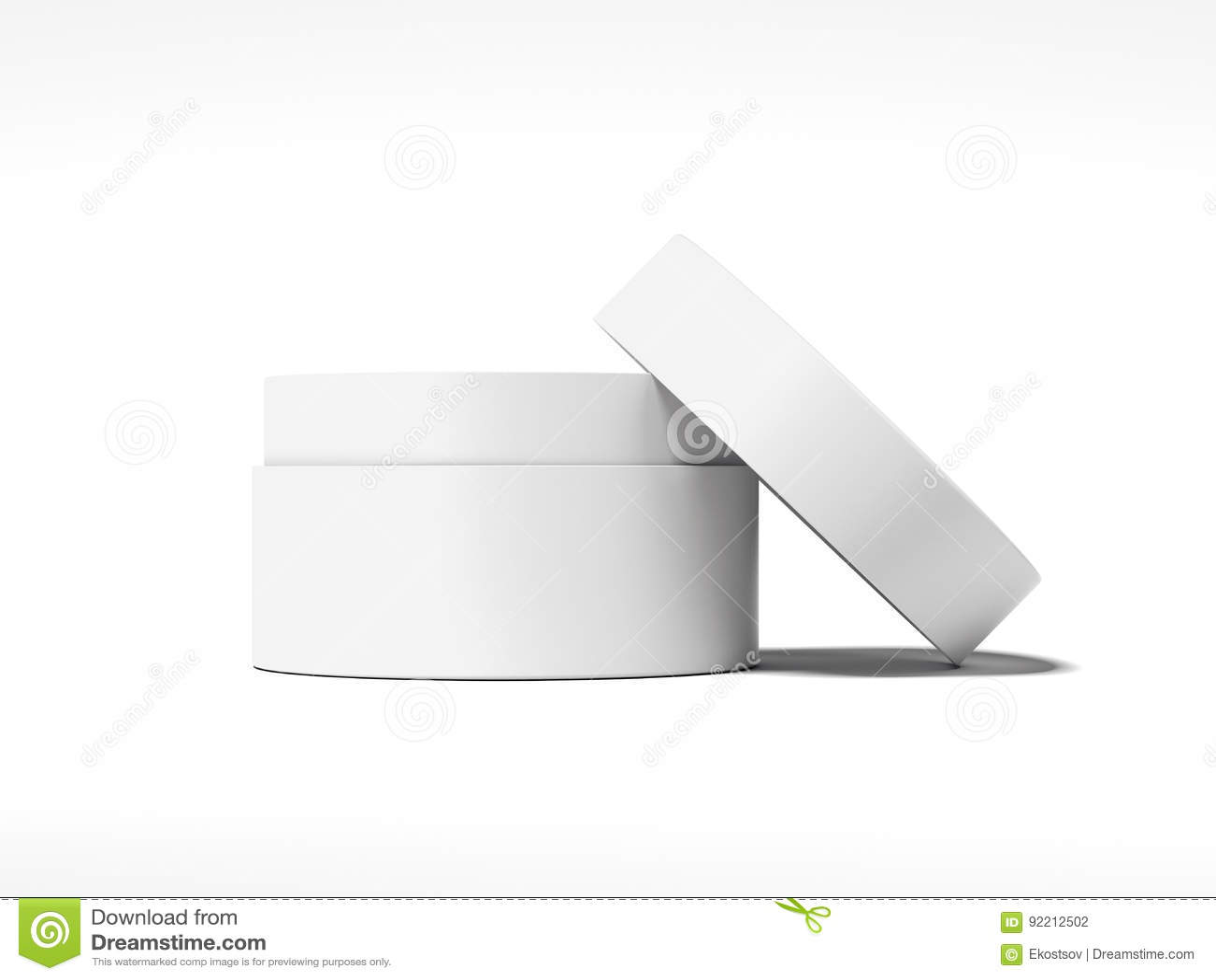 Frasco vazio branco para o creme rendição 3d