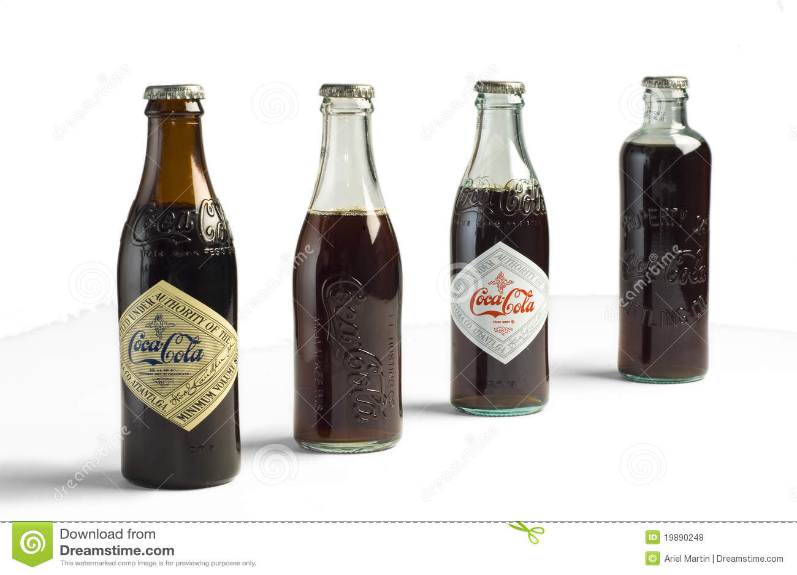 Frascos da coca cola do vintage foto de stock editorial - Nevera coca cola retro ...