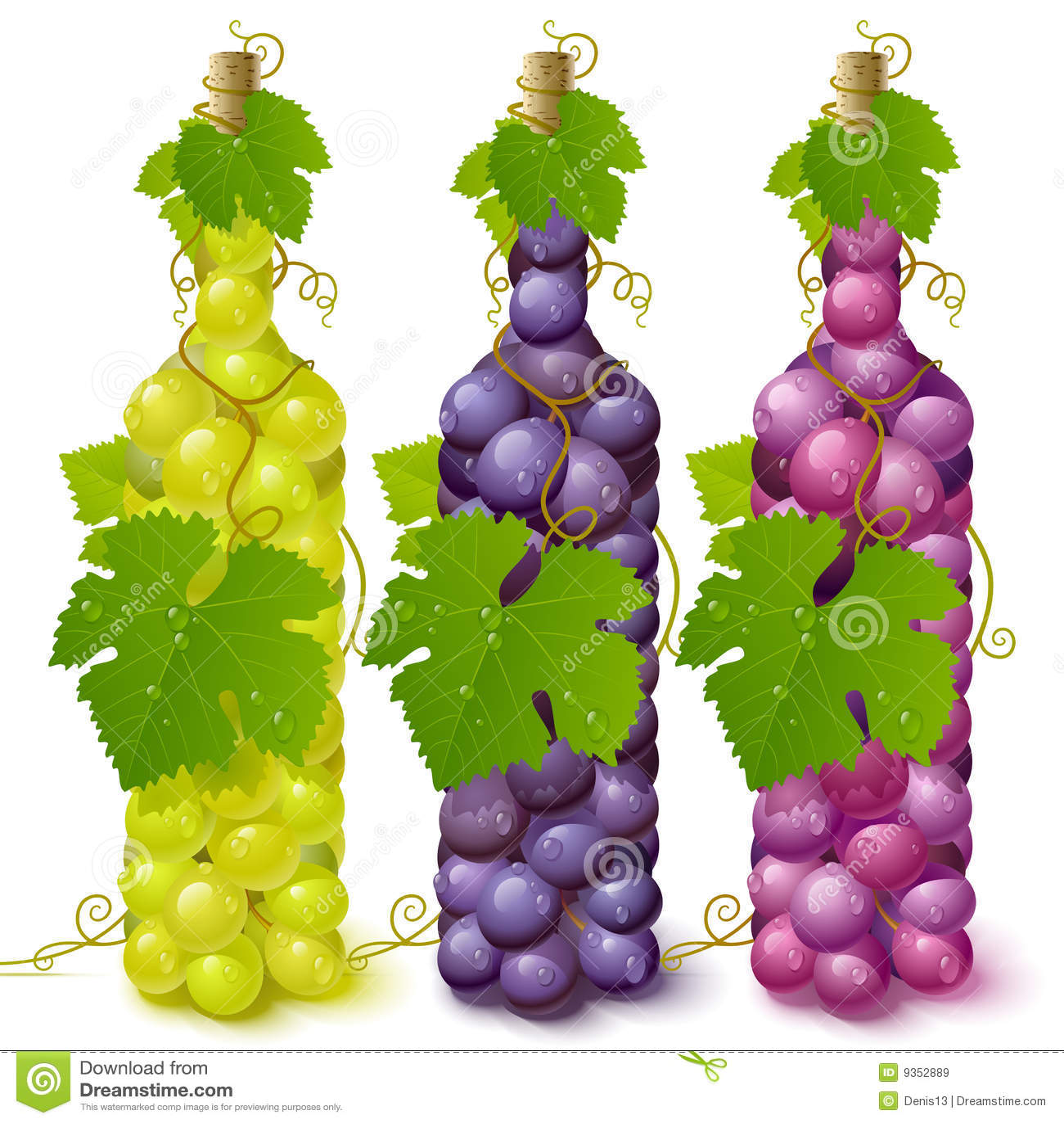 Frascos da uva da videira