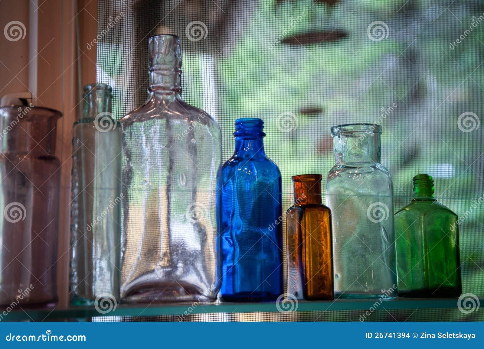 Frascos de vidro do vintage