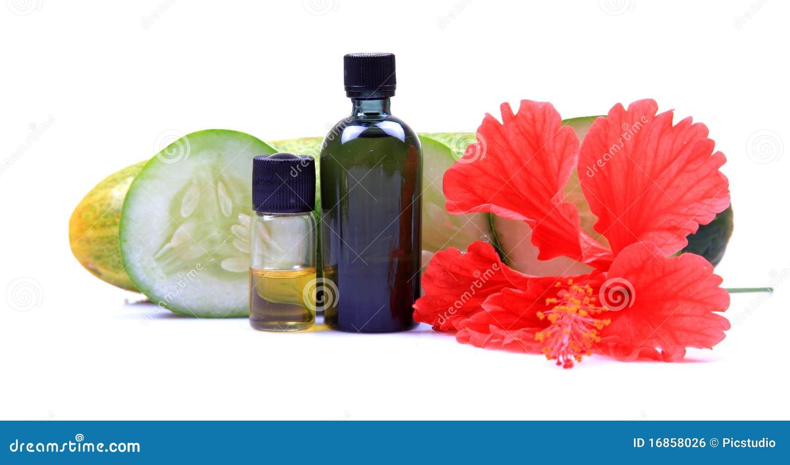 Frascos naturais do óleo do corpo