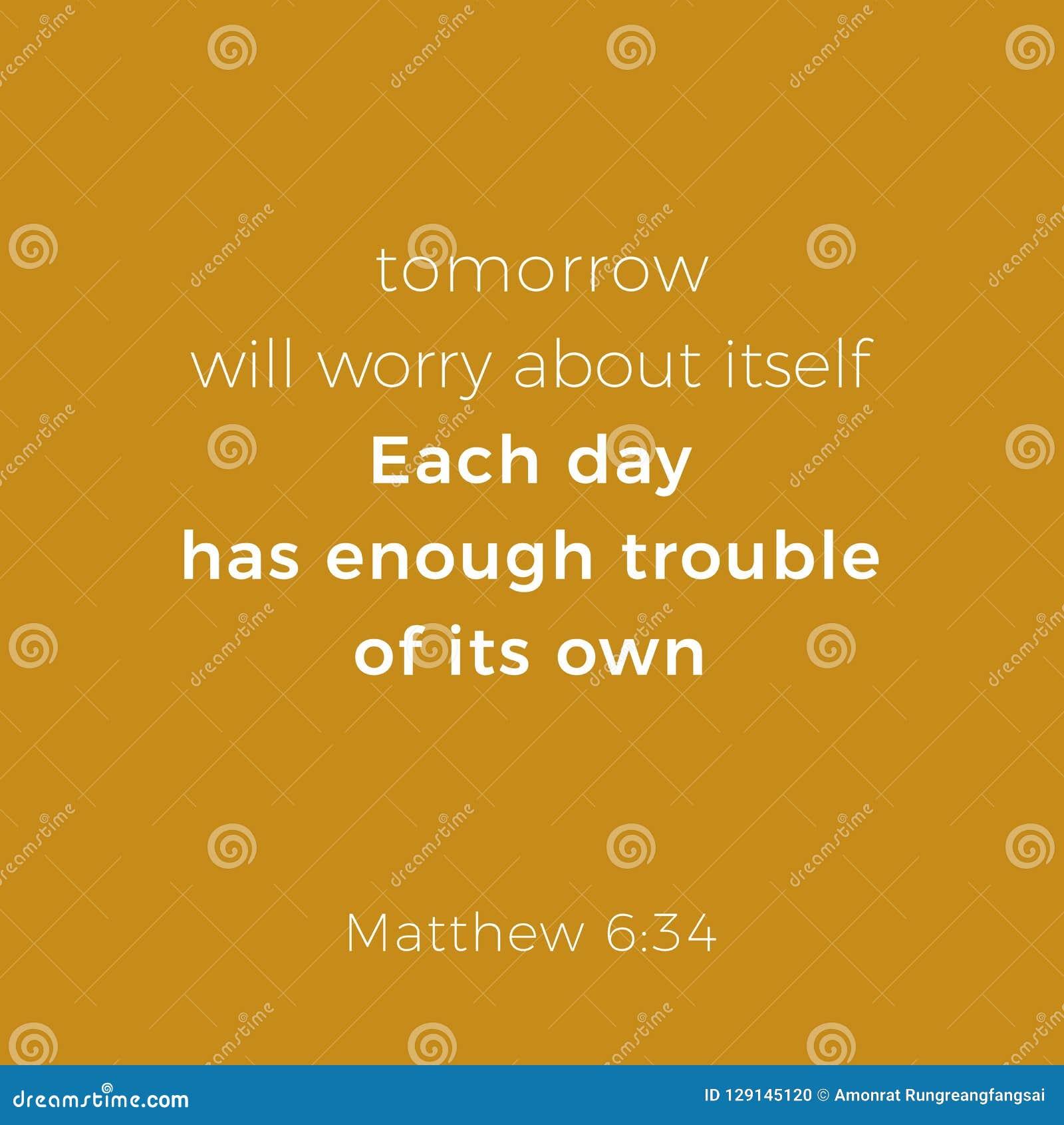 Frase Bíblica Del Evangelio 6 De Matthew Ilustración Del