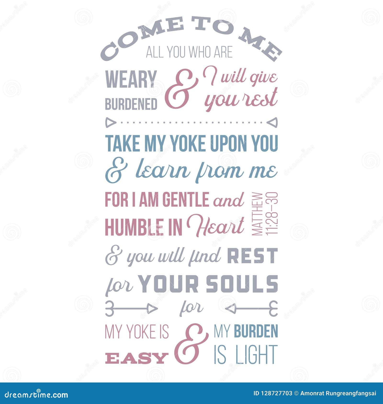 Frase Bíblica Do Gospel De Matthew Vindo A Mim Tudo Você Que é