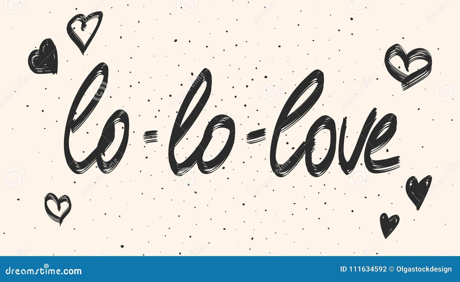 Frase Da Caligrafia Do Amor Vector O Texto Preto Da Tipografia E