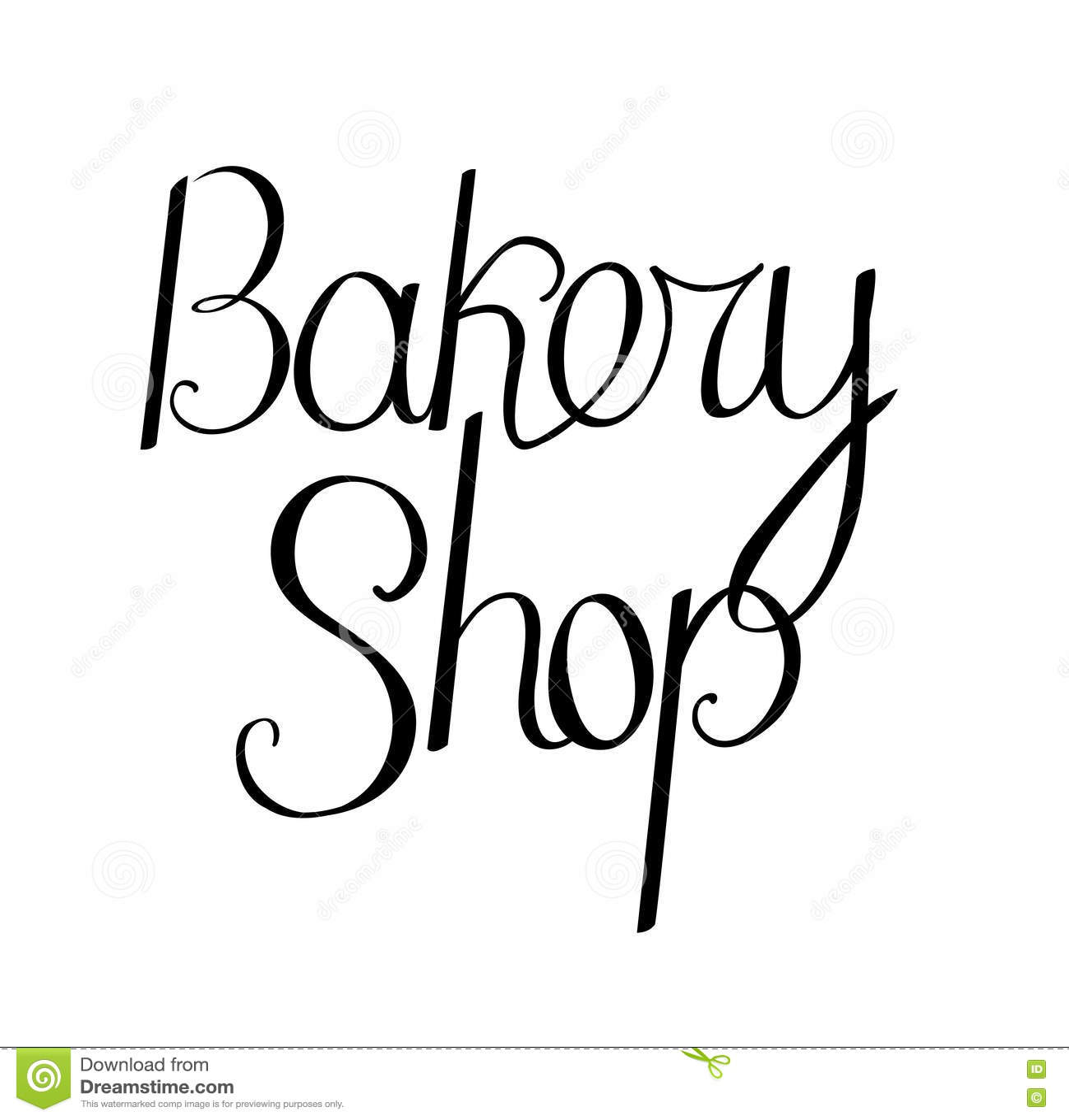 Frase De La Tienda De La Panadería Aislada En El Fondo