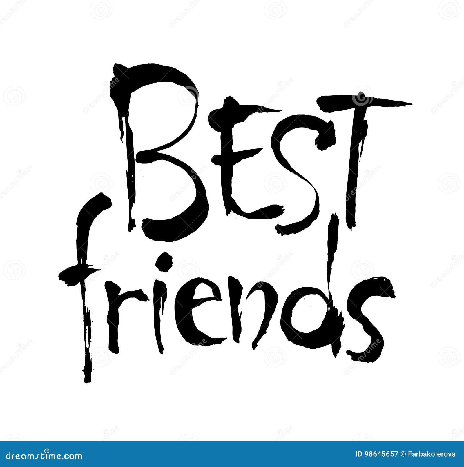 Frase Do Melhor Amigo Frase Tirada Mão Da Amizade Ilustração Da