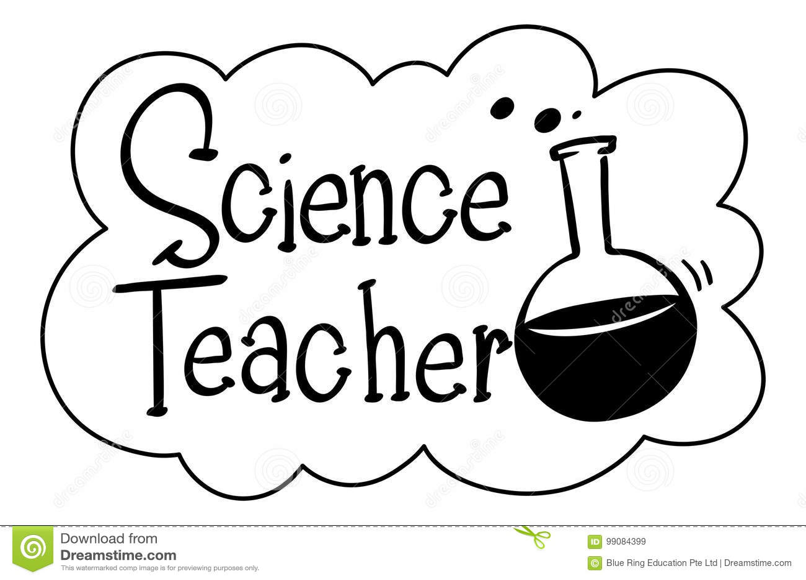Frase Inglesa Para El Profesor De Ciencias Ilustración Del