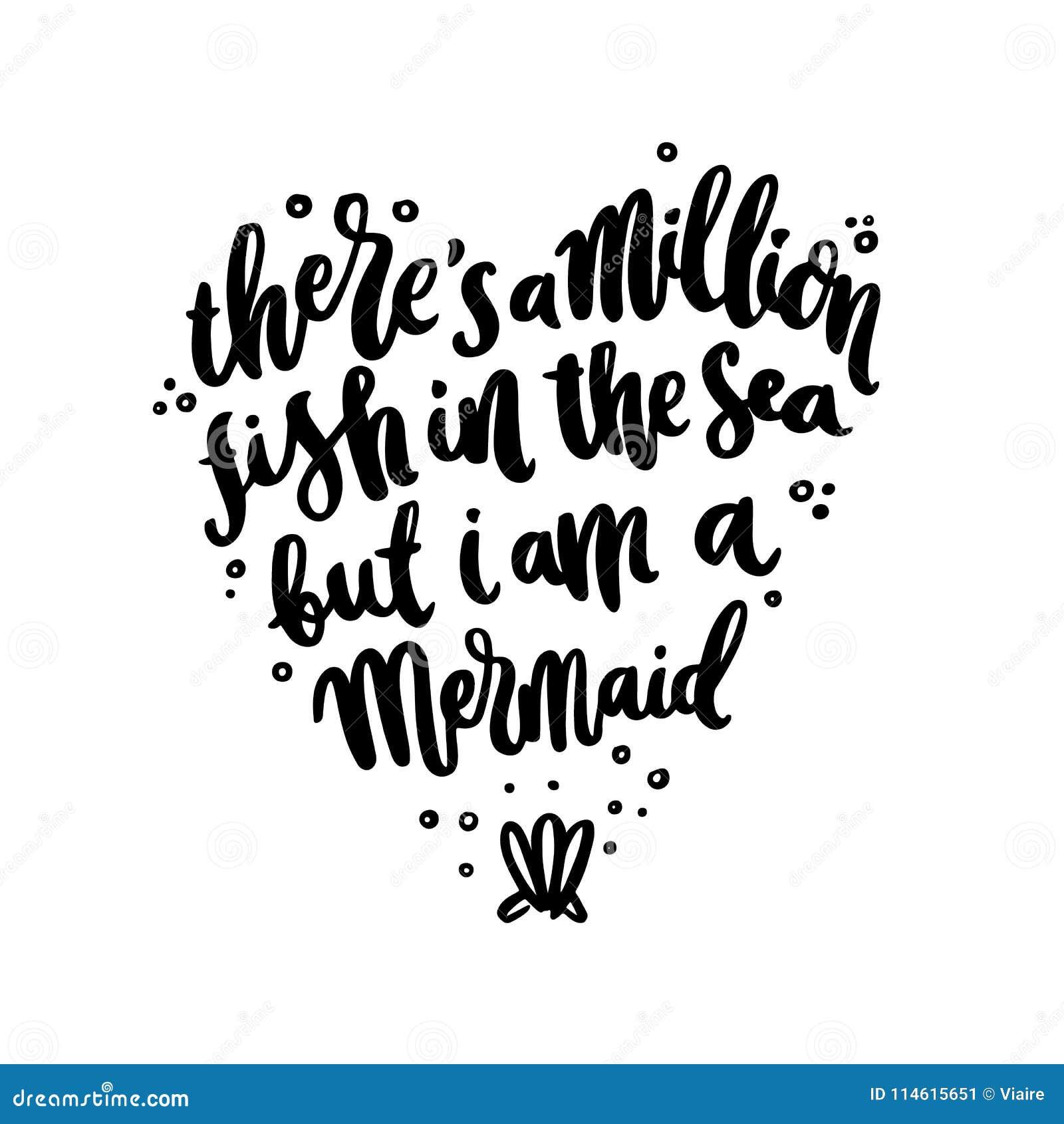 Frase A Mano De Las Letras Allí S Millón De Pescados En El Mar