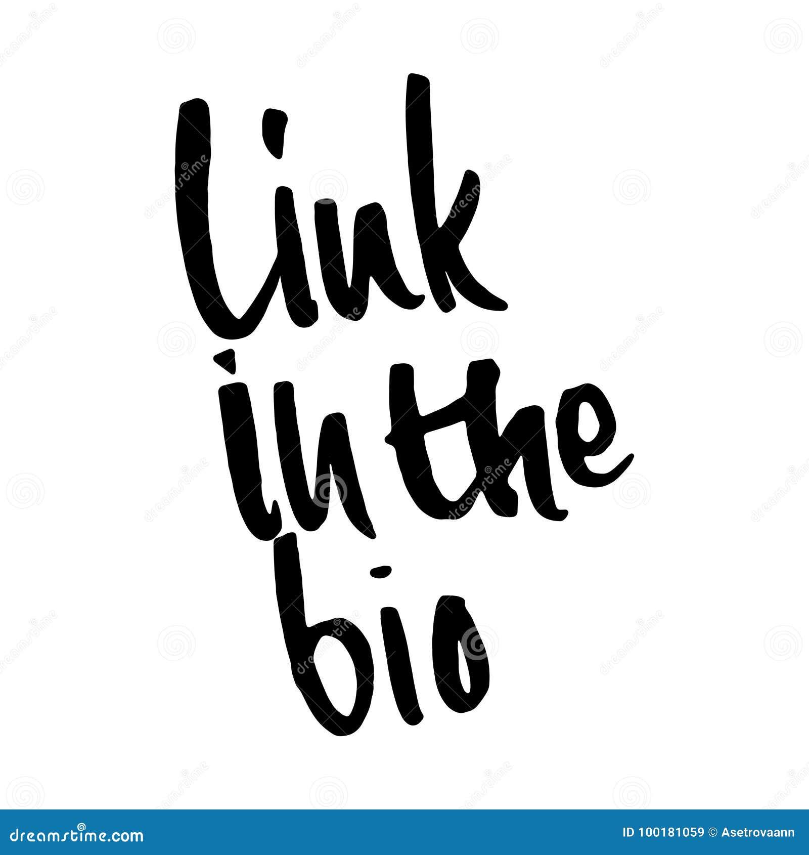 Frase Vínculo Dibujado Mano En El Bio Diseño De Letras Para