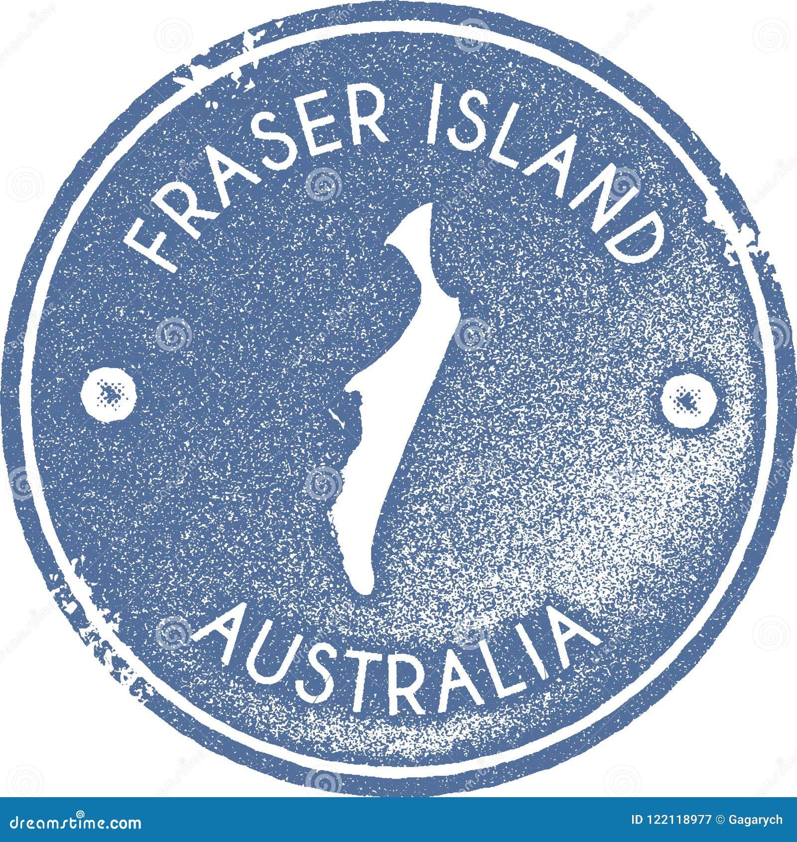 05e80c65aa Fraser Island Map Vintage Stamp. Stock Vector - Illustration of ...