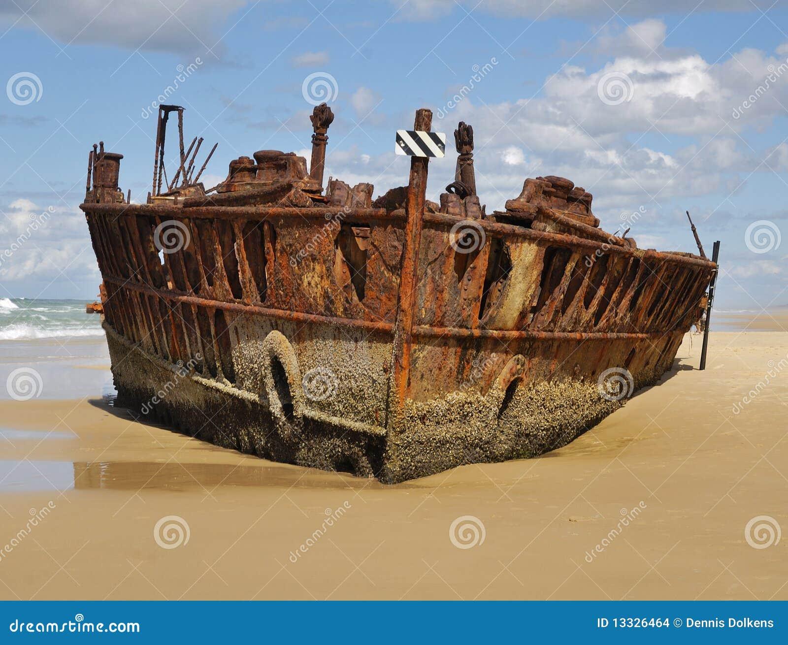 Fraser wyspy statku wrak