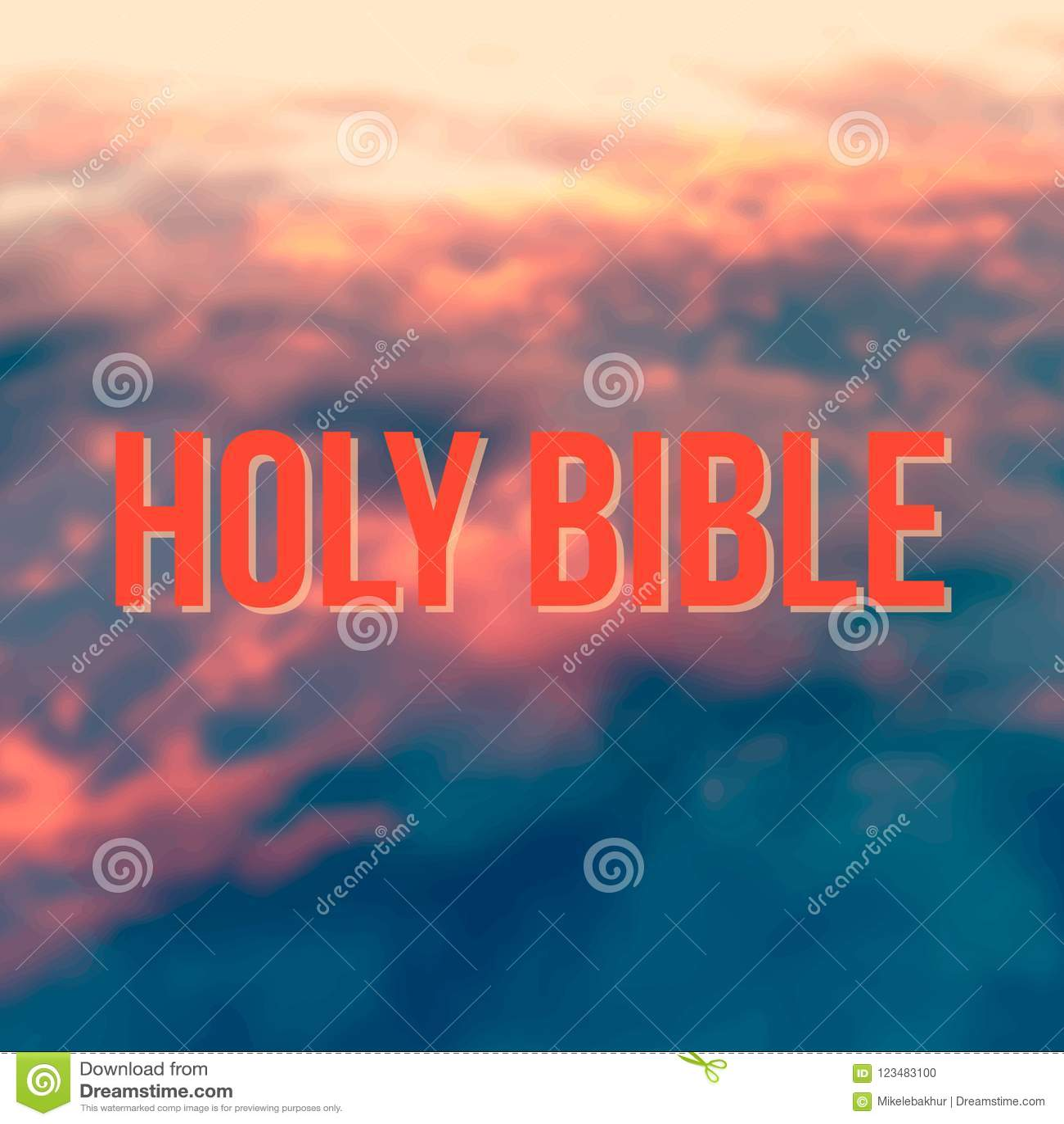 Frases Da Bíblia Sagrada No Fundo Vermelho Do Céu Foto De