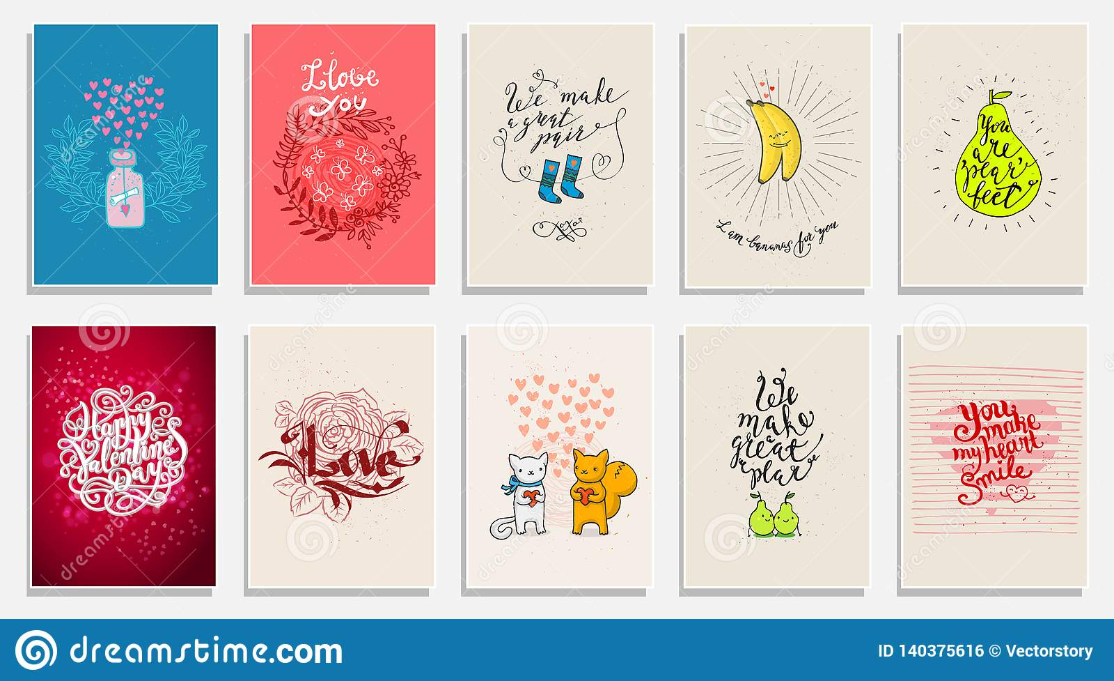 Frases Engraçadas Sobre O Amor Cartão Tirado Mão Do Dia De