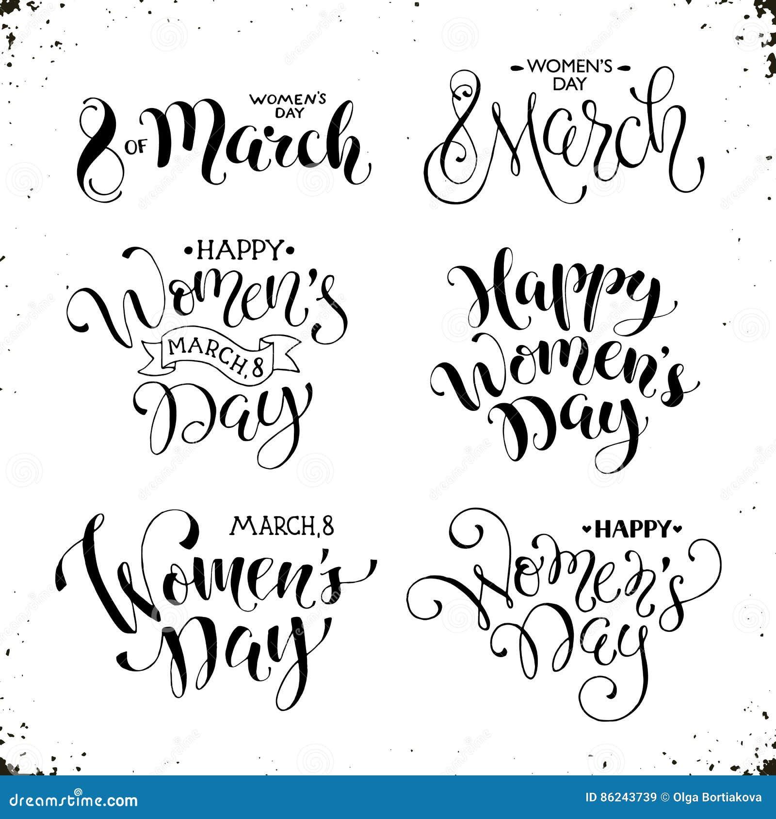 Frases Para Mujer Felices Del Día Ilustración Del Vector