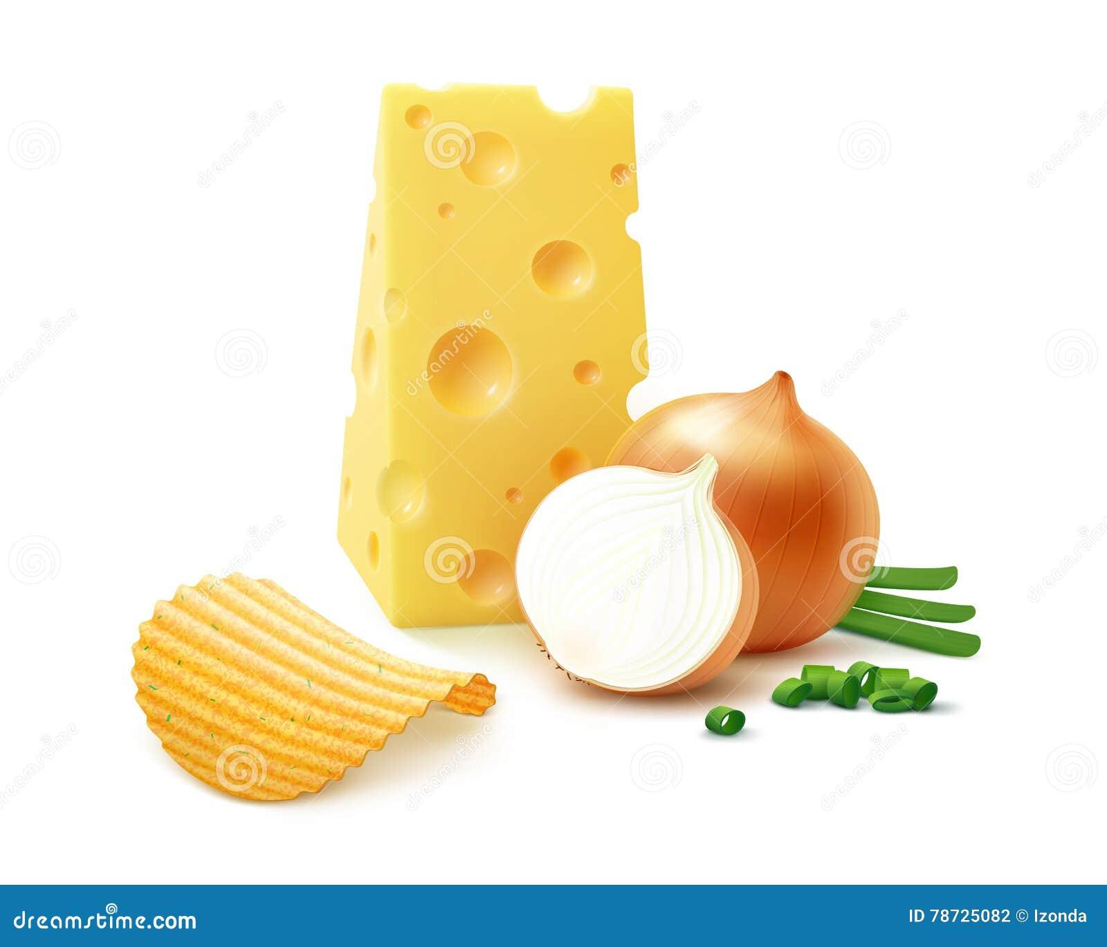Frasiga chiper för potatiskrusning med ost och löken