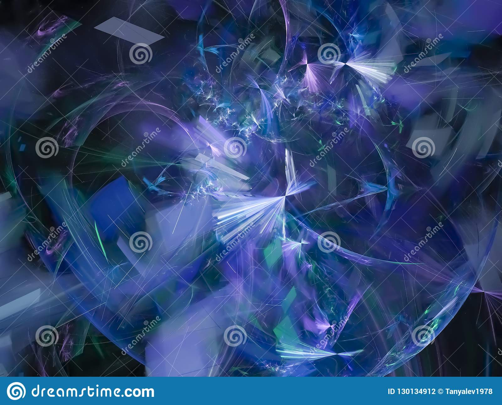 Frattale etereo brillante di dinamica surreale astratta di Digital, progettazione di struttura, esclusiva di caos