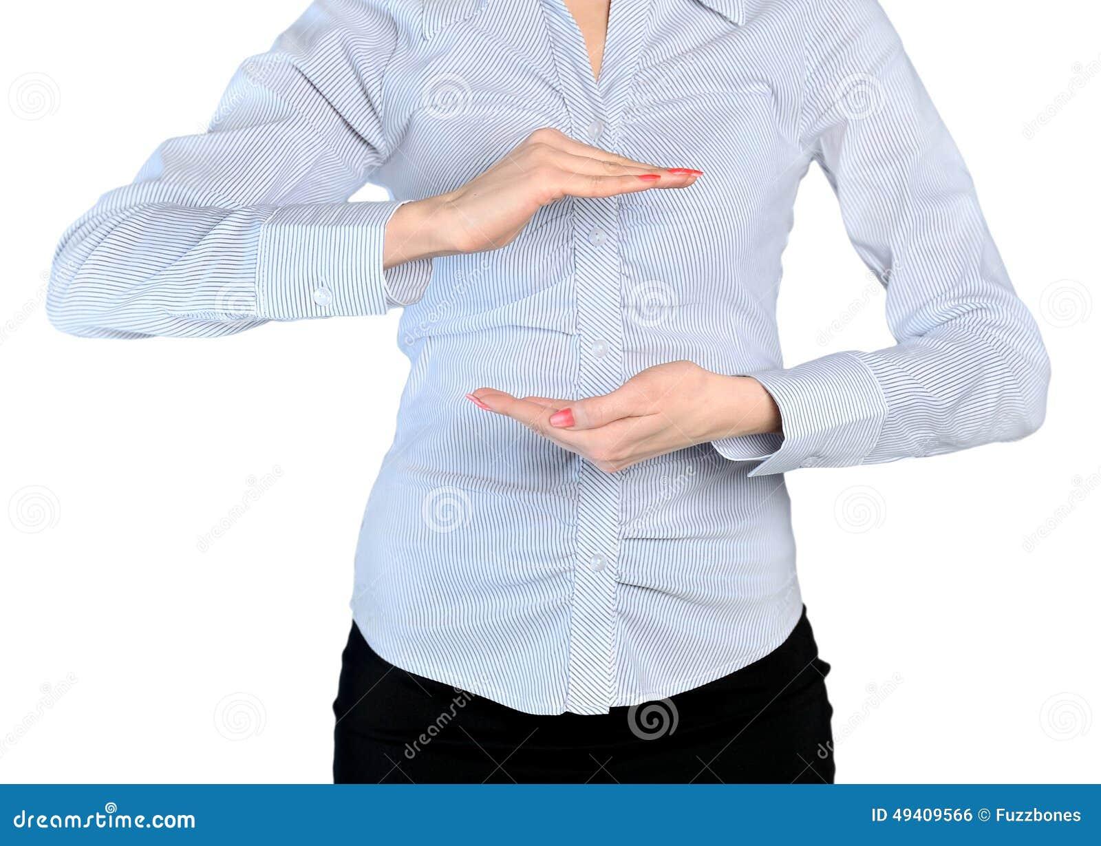 Download Frau übergibt Bedeckung Etwas Stockfoto - Bild von leute, schutz: 49409566