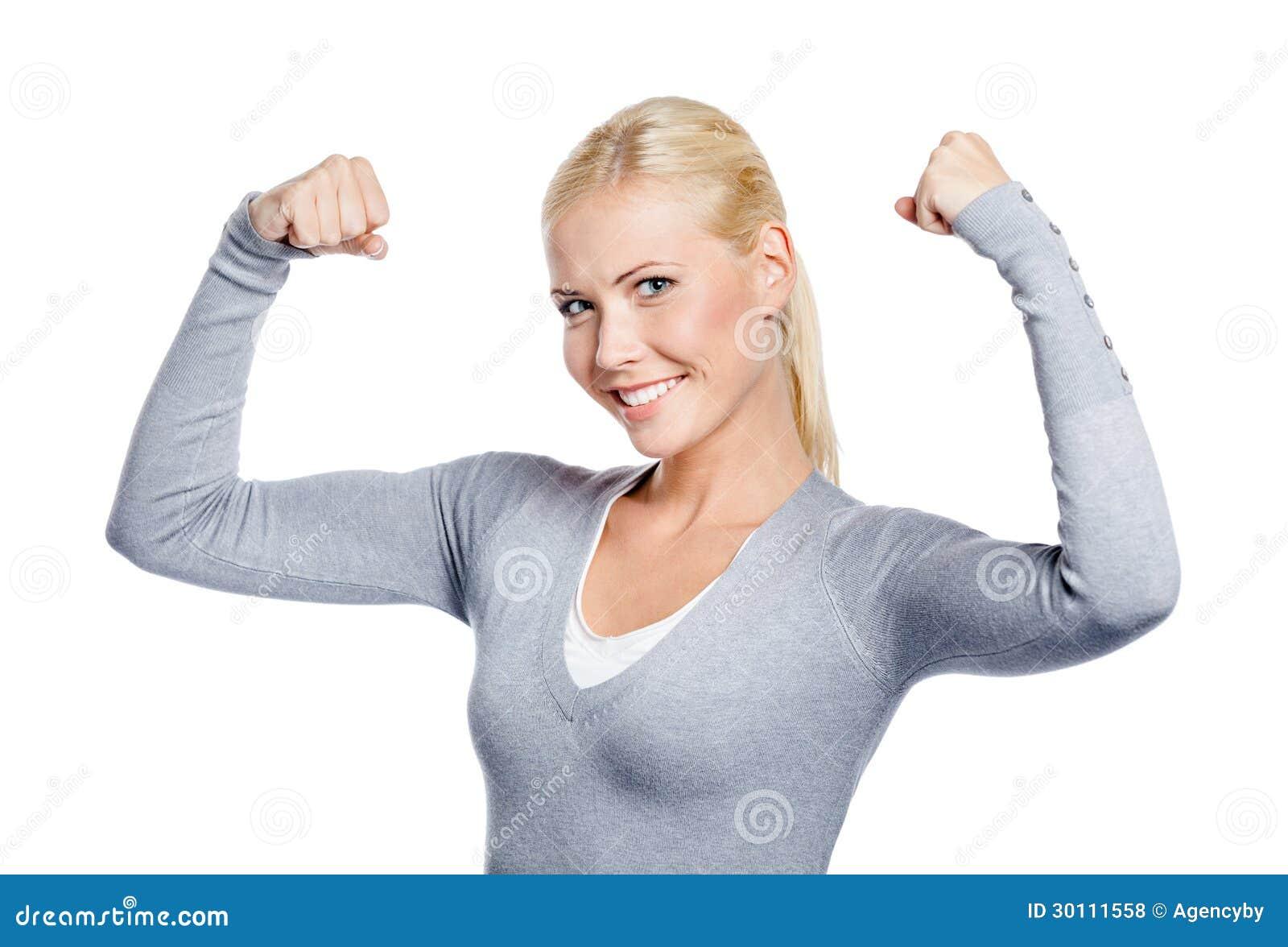 starke mädchen mit muskeln