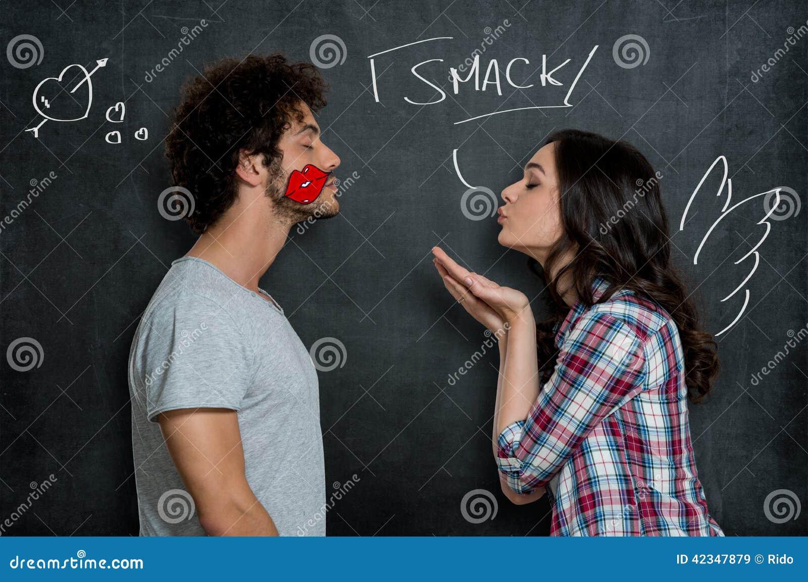Flirten kuss