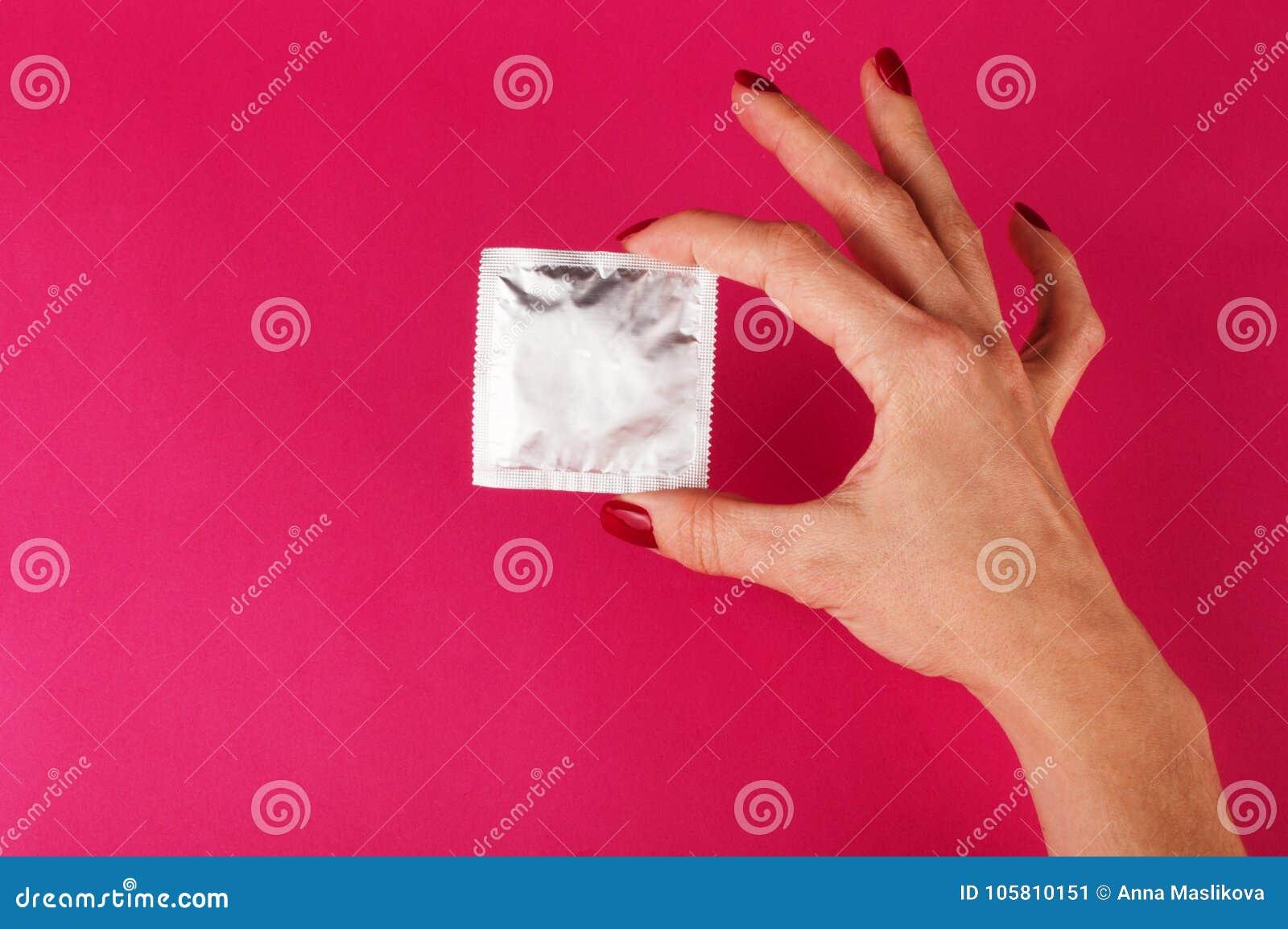 Frau kondom