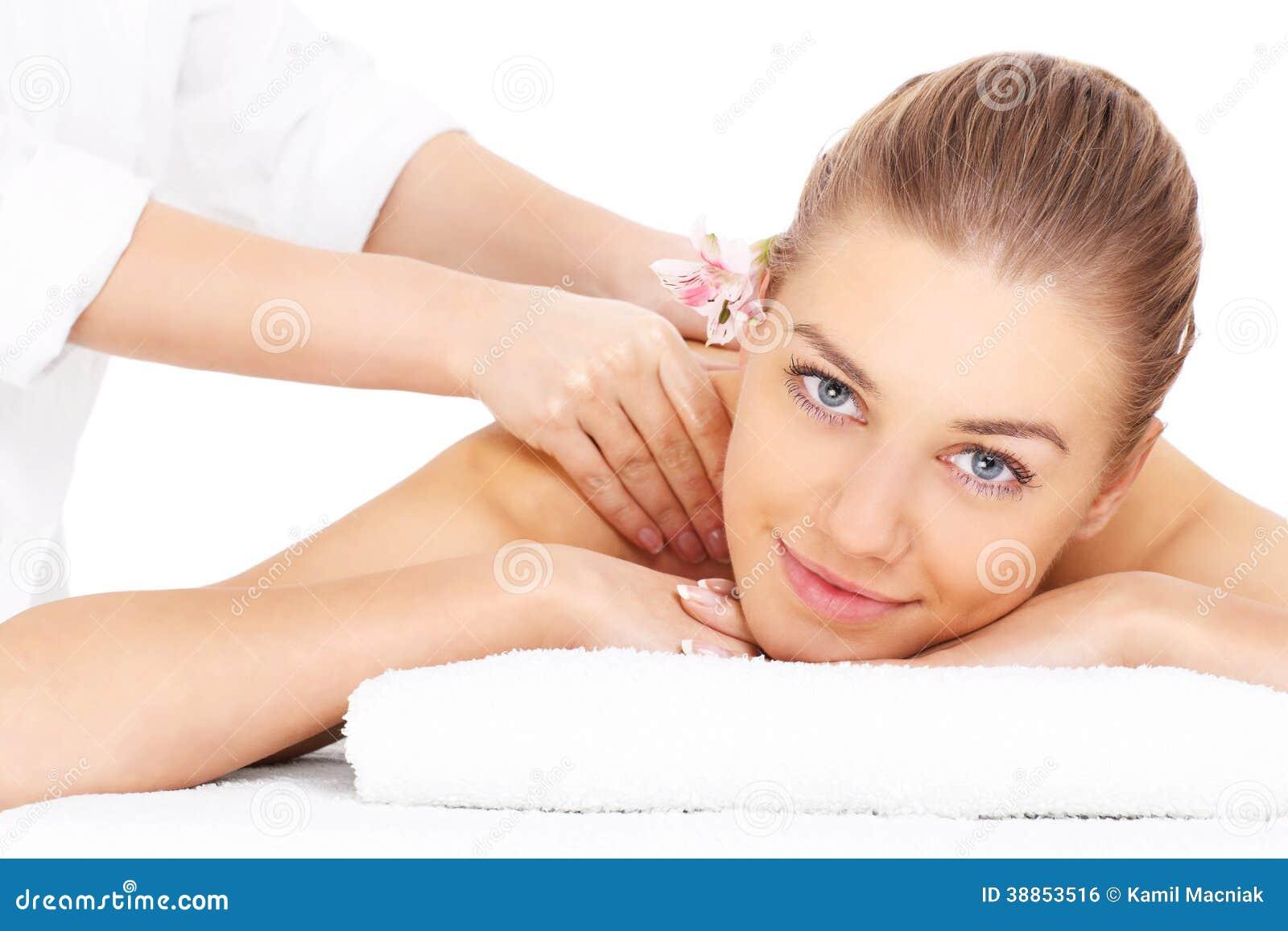 Frau massieren