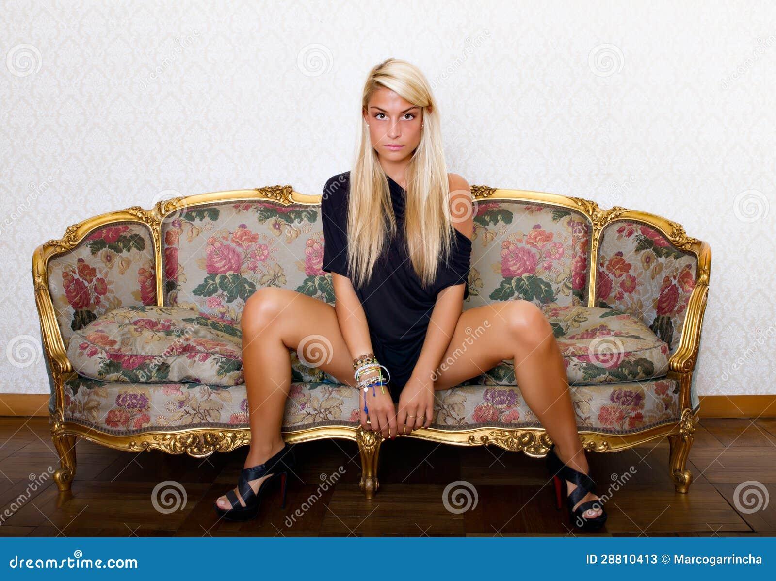 Frau offene Beine