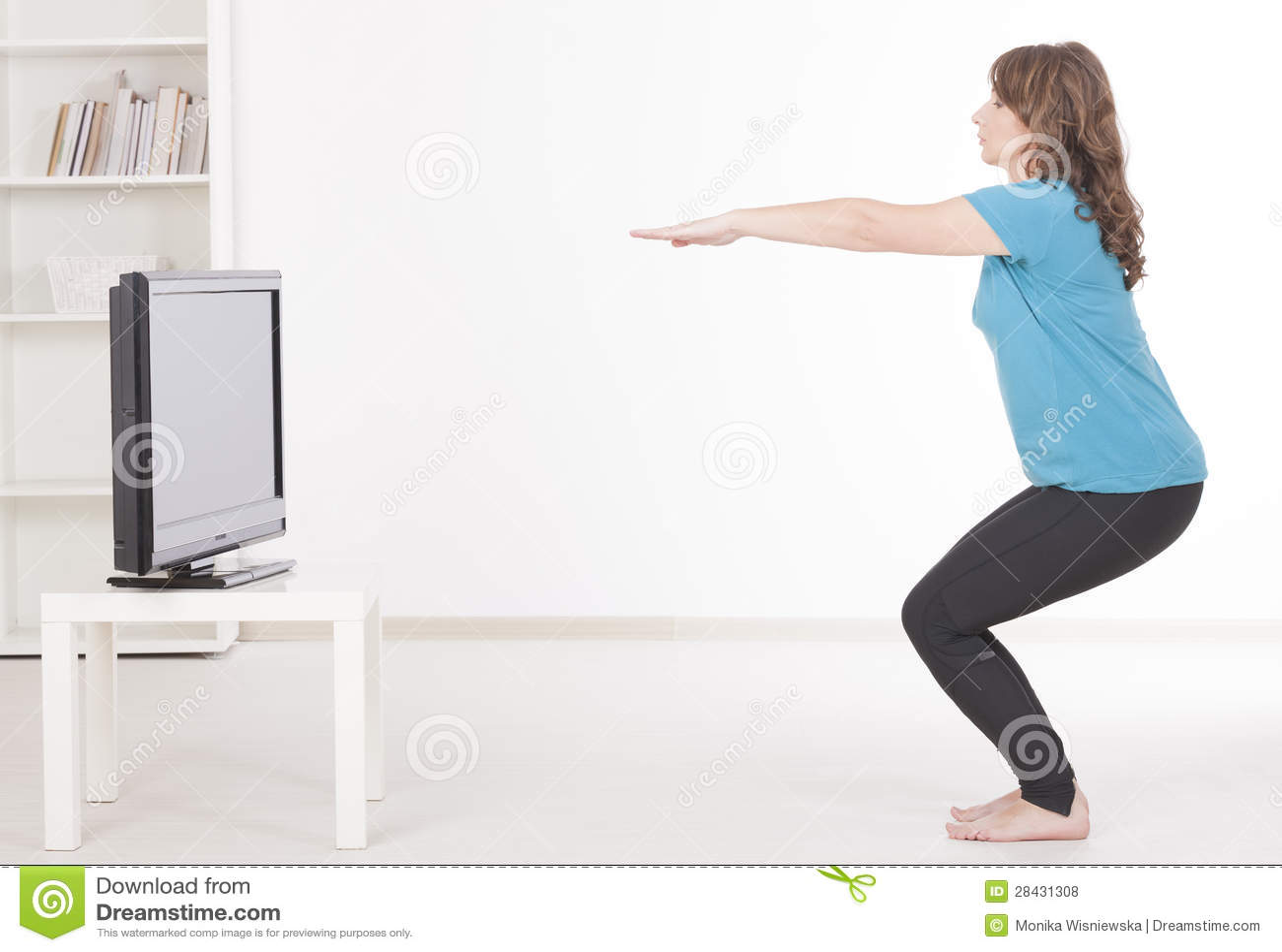 Frau exercisng zu Hause