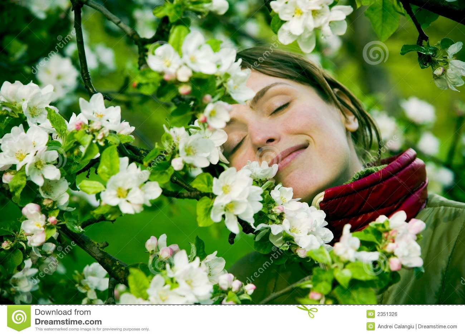 Frau im Frühjahr