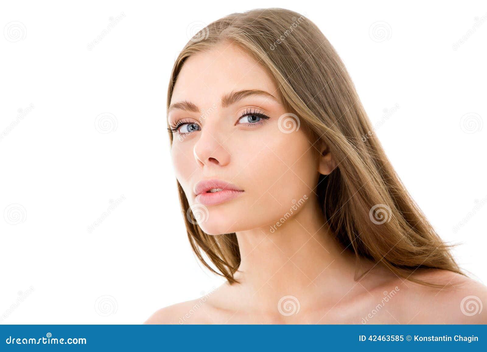 Frau mit dem langen Haar